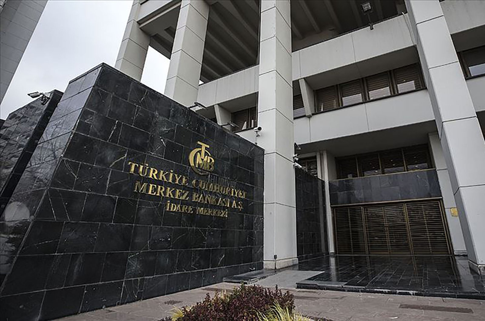 The logo of the Central Bank of the Republic of Turkey seen in this undated file photo.