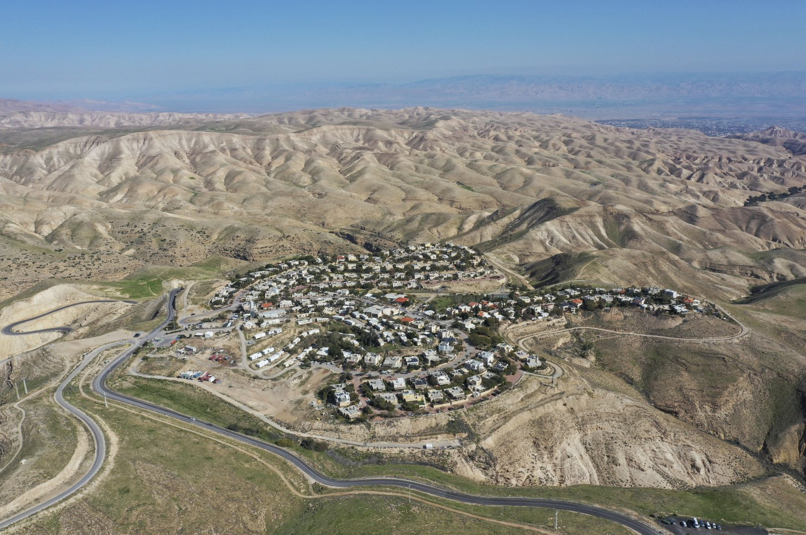 The Jewish settlement of Maale Michmash is seen in the occupied West Bank, Palestine, Jan. 26, 2020. (AP Photo)
