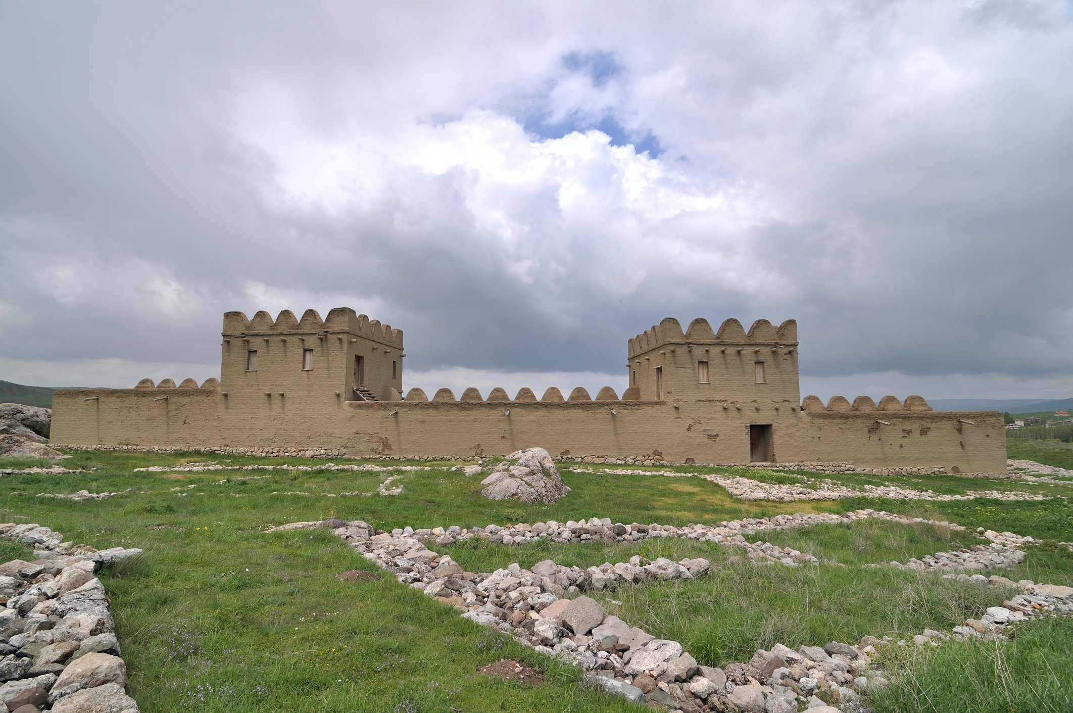 Parts of the Hittite Fortress have been reconstructed. (iStock Photo)