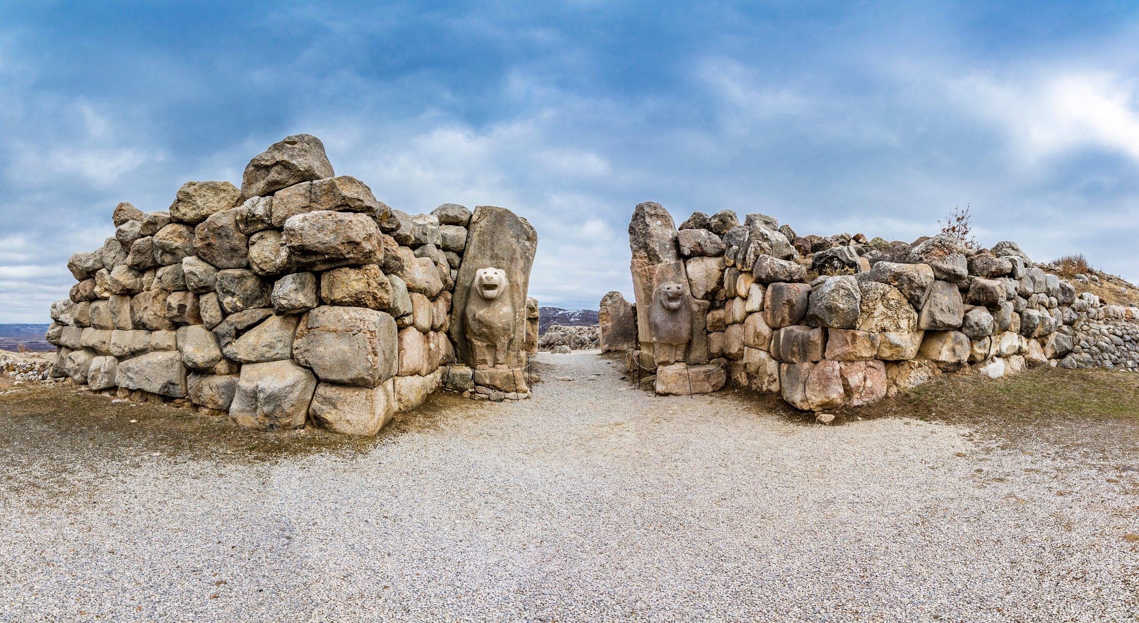 Enter Hattusa, the imperial capital of the Hittites, through the Lion Gate. (iStock Photo)