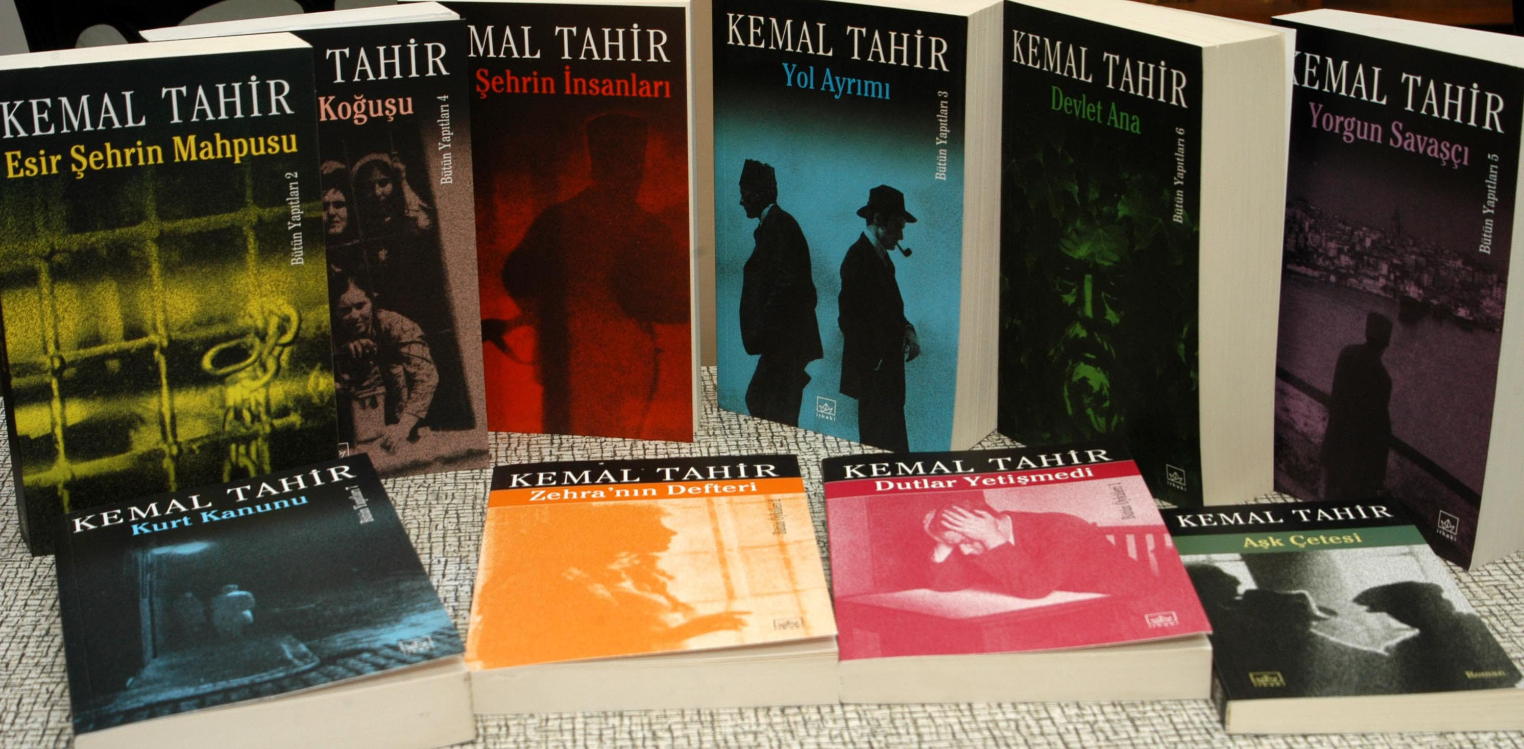 Some of Kemal Tahir's works. (Photo by Sadık Güleç via SABAH)