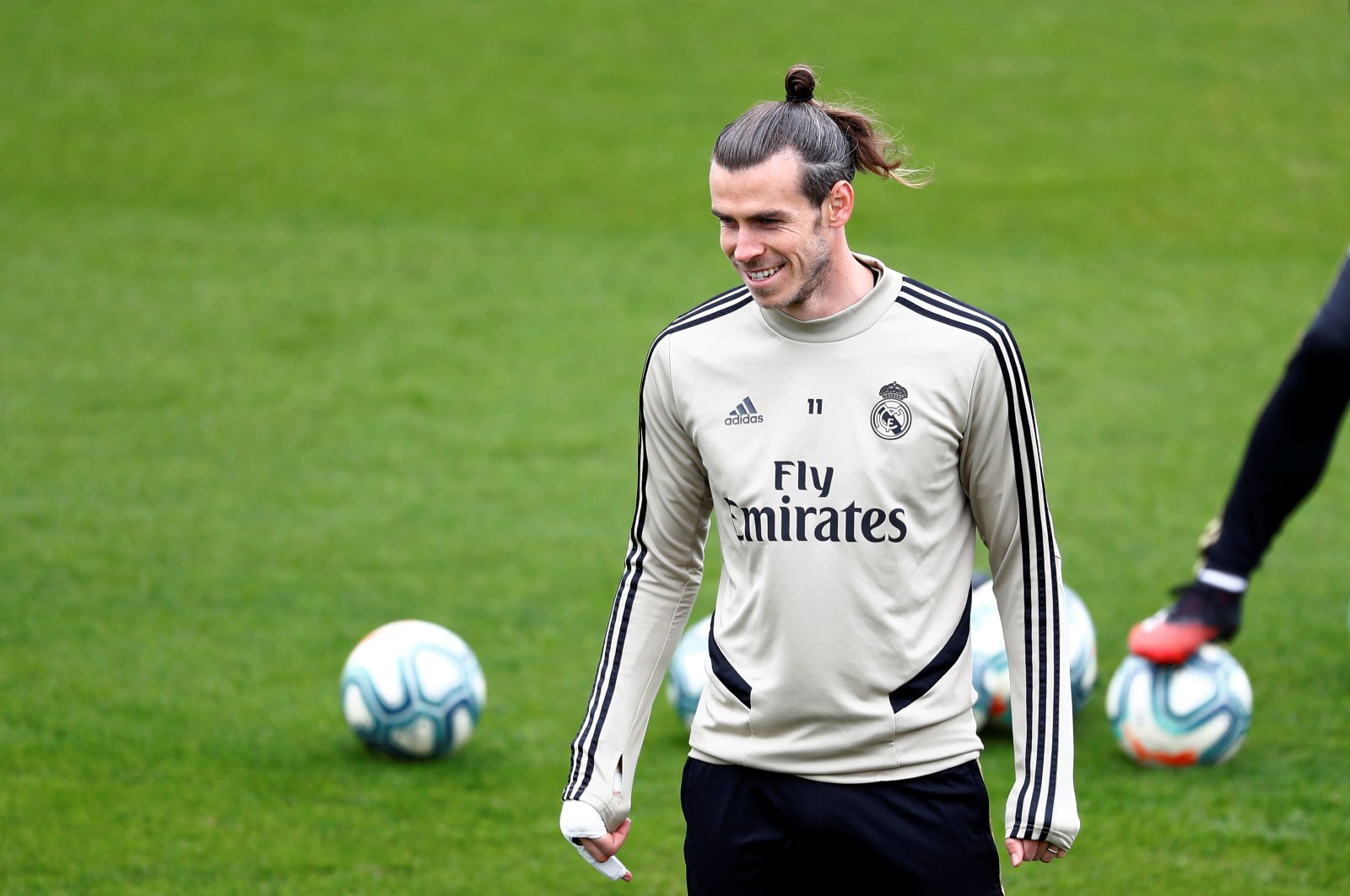 Real Madrid's Gareth Bale during training in Madrid, Spain, Feb. 29, 2020. (Reuters Photo)