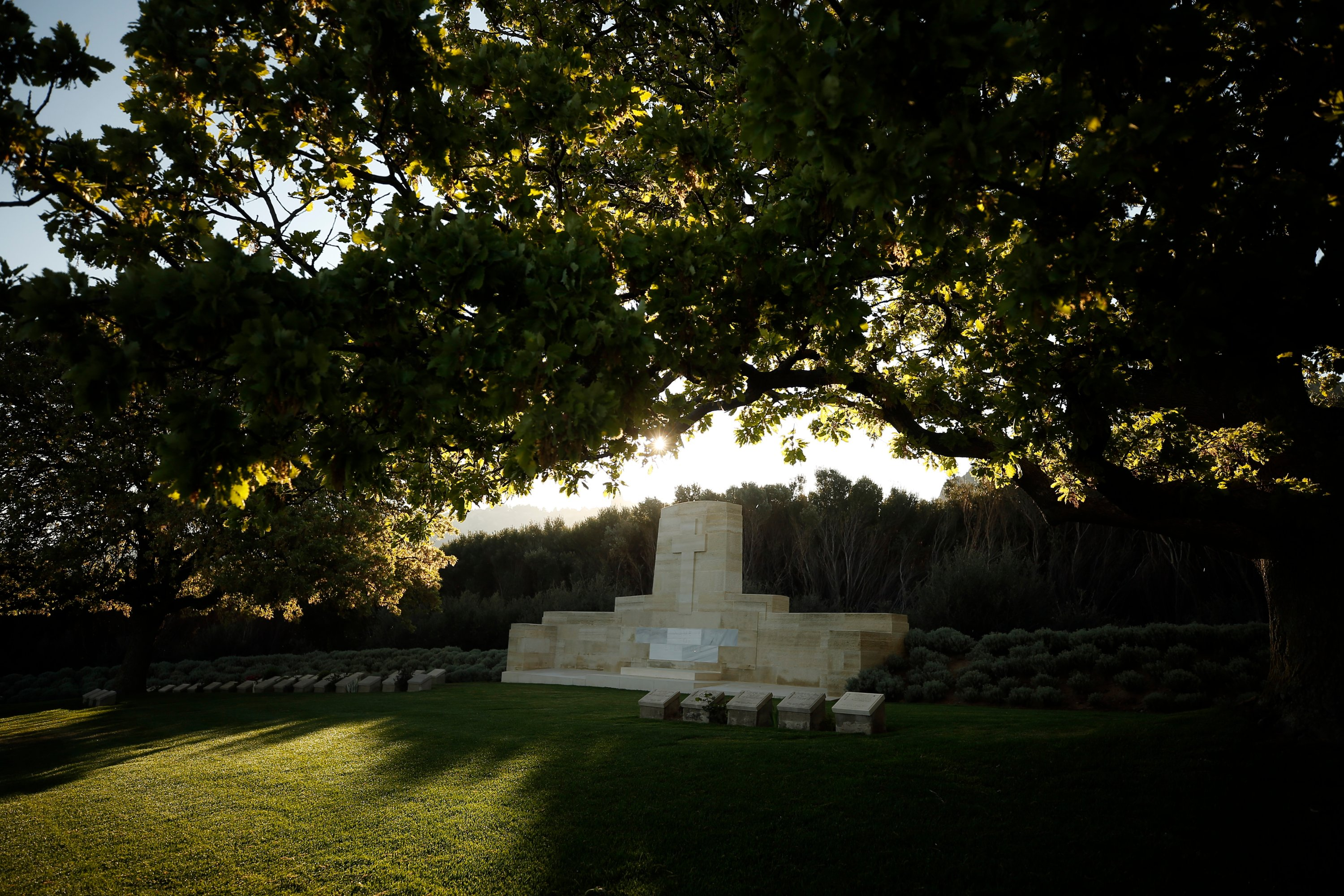 A view of the Anzac Cove cemetery by the site in Gallipoli peninsula of World War I landing of the ANZACs. (AP Photo)