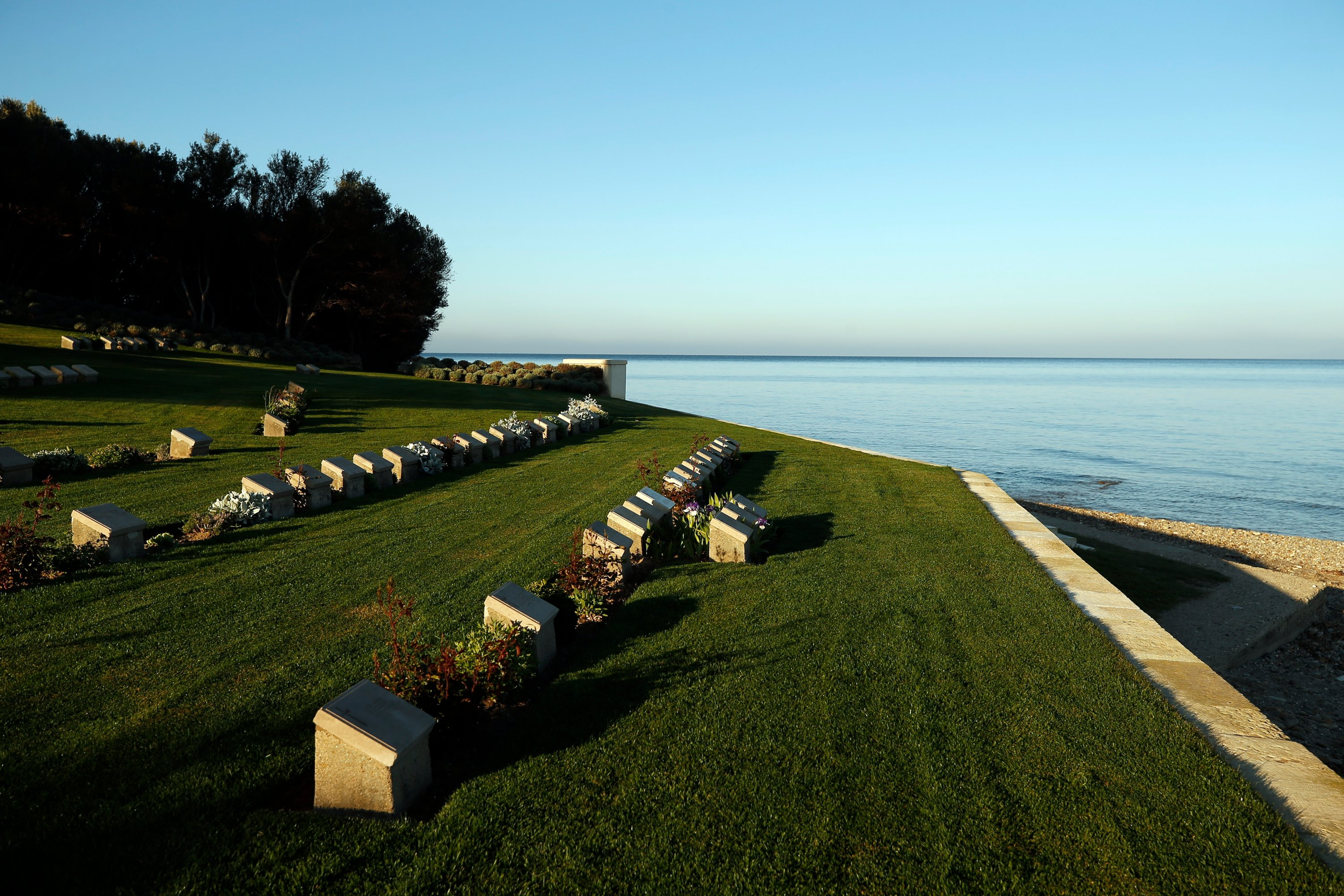 A view of the Anzac Cove cemetery. (AP Photo)