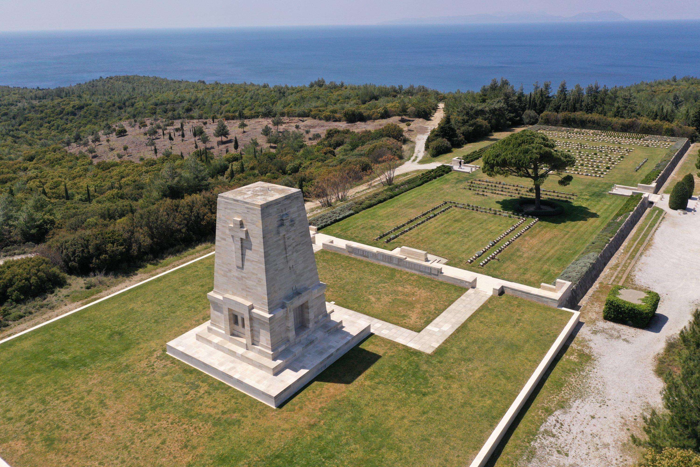 General view of the deserted Lone Pine Australian memorial on the Gallipoli Peninsula in Çanakkale province, Turkey, April 24, 2020