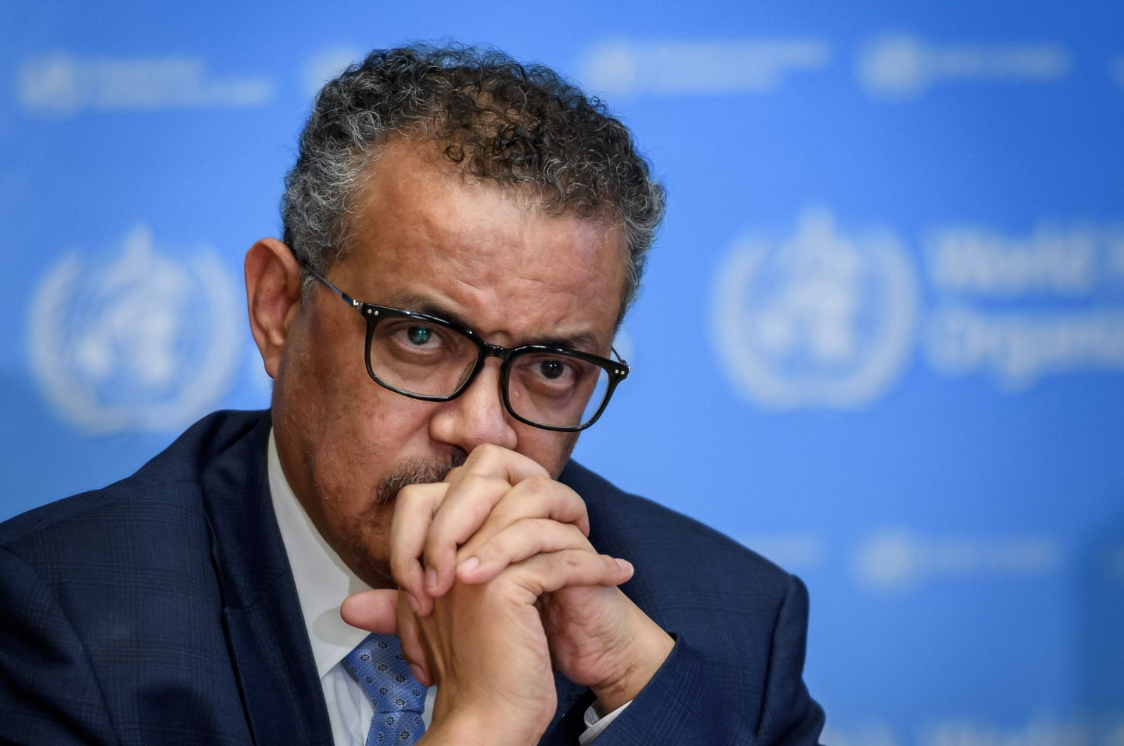 World Health Organization (WHO) Director-General Tedros Adhanom Ghebreyesus attends a daily press briefing on the new coronavirus dubbed COVID-19, at the WHO headquaters on March 2, 2020 in Geneva. (AFP Photo)