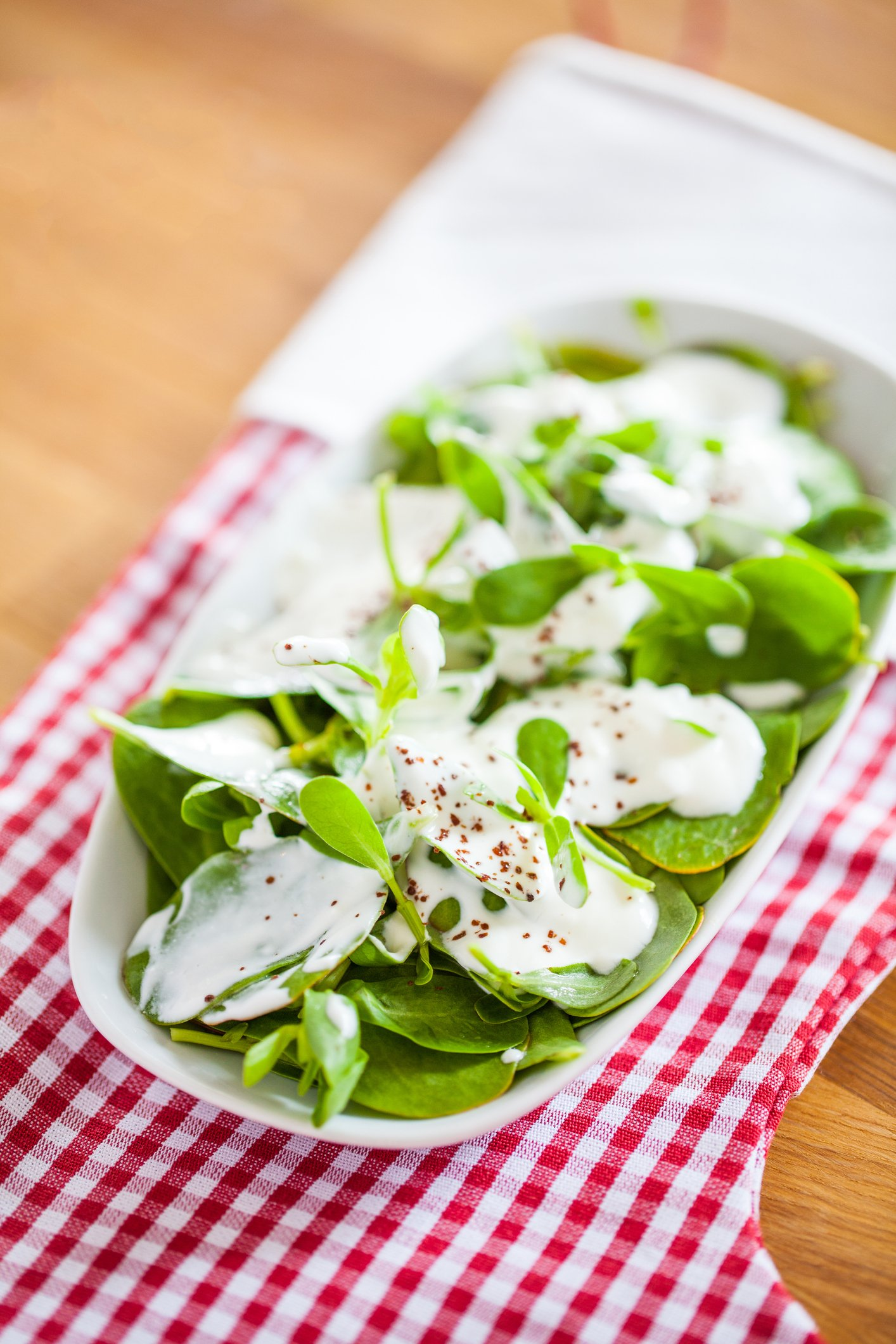 Pepper flakes and sumac are a great addition to yogurt and purslane. (iStock Photo)