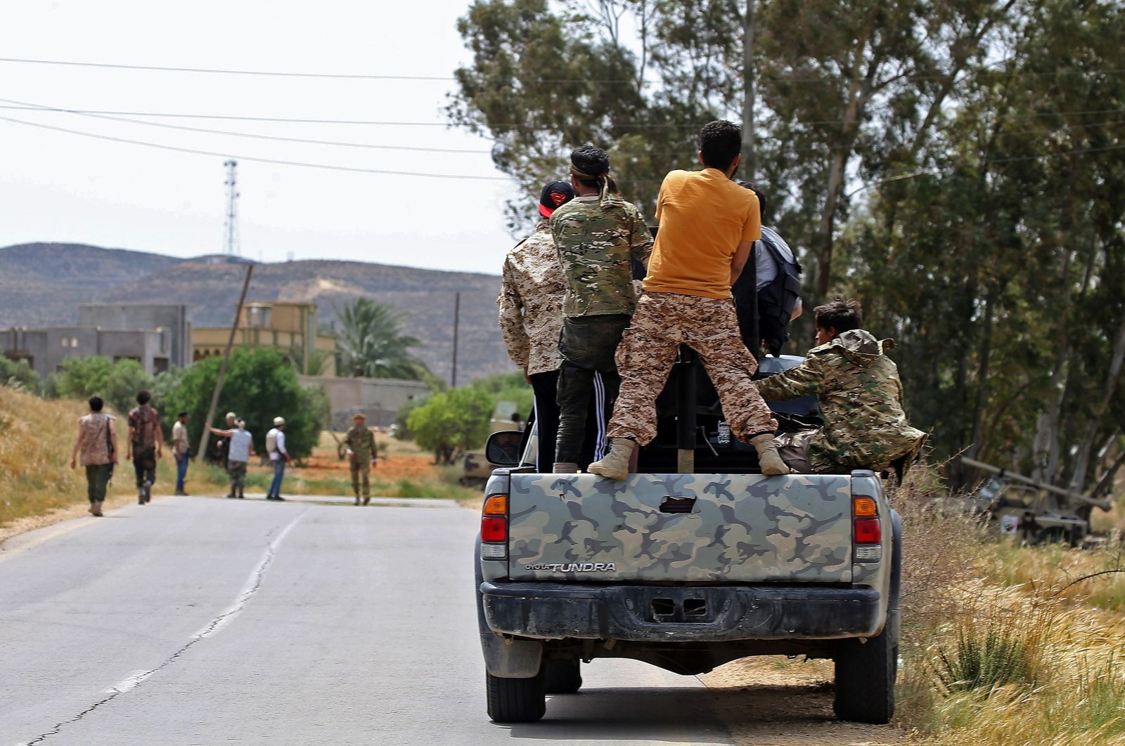 Libya's UN-recognized Government of National Accord (GNA) forces have made progress towards the town of Tarhuna near Southwest Tripoli within Volcano of Rage Operation in Libya, April 19, 2020. AFP Photo)