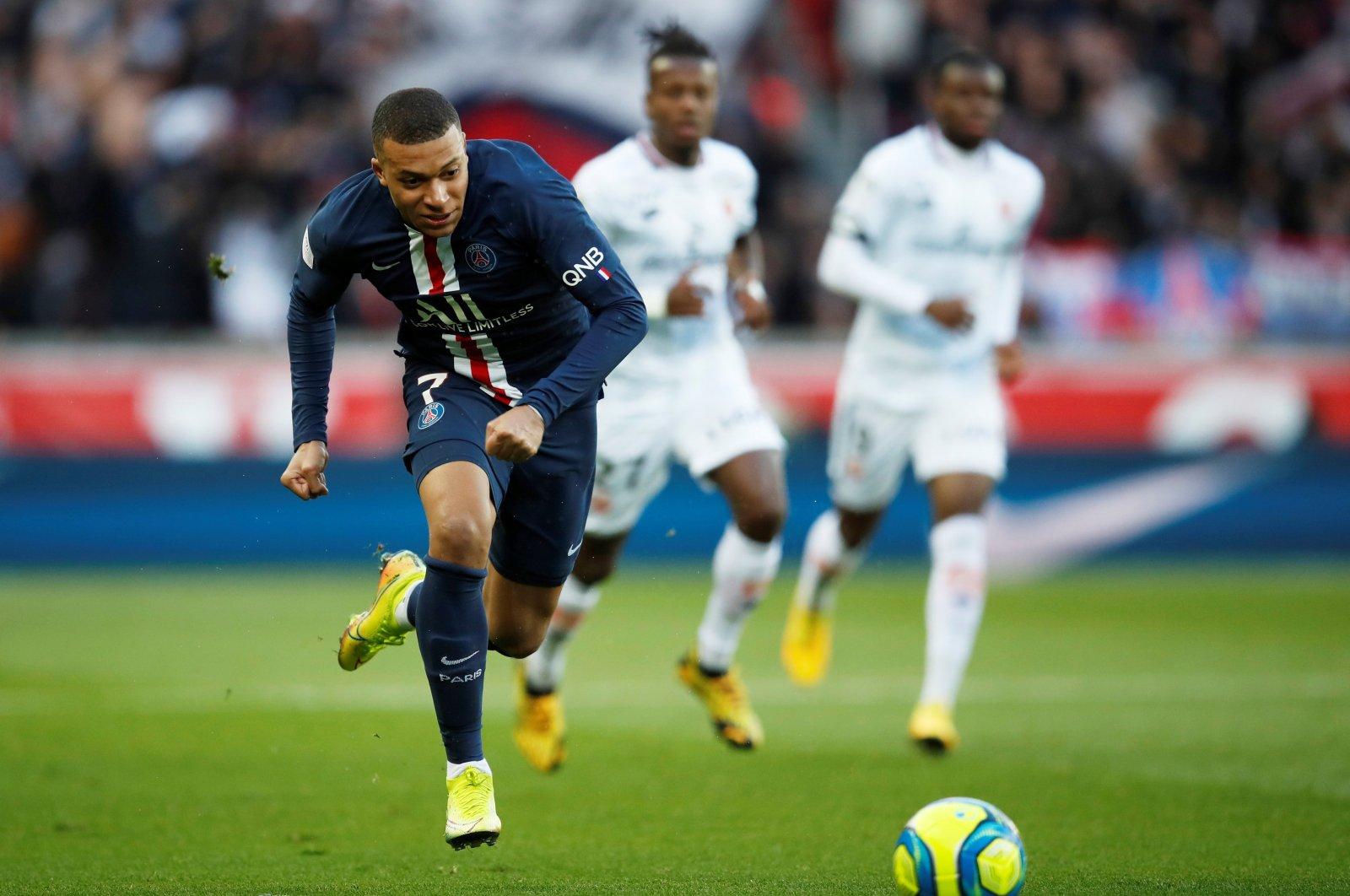 Kylian Mbappe in action against Dijon, in Paris, France, Feb. 29, 2020. (REUTERS Photo)