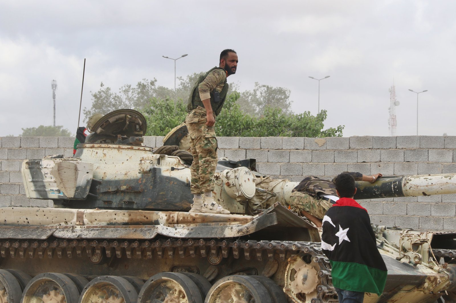 Forces loyal to the U.N.-recognized Government of National Accord (GNA) launch a military operation against putschist Gen. Khalifa Haftar's forces southeast of the capital Tripoli, Libya, April 23, 2020. (AA Photo)