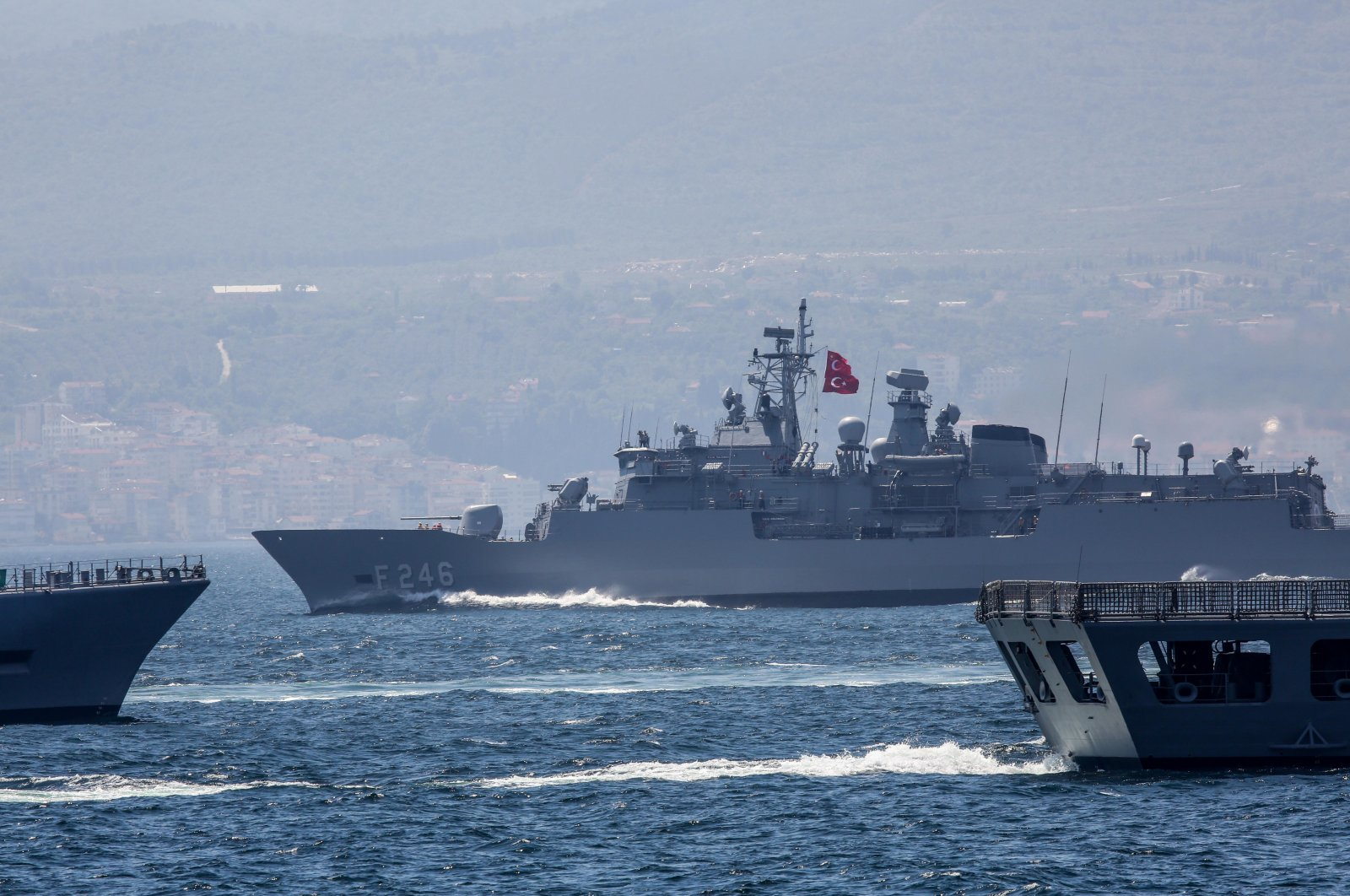 Turkish Navy holds a drill in the Eastern Mediterranean on May 4, 2019 (Sabah File Photo)