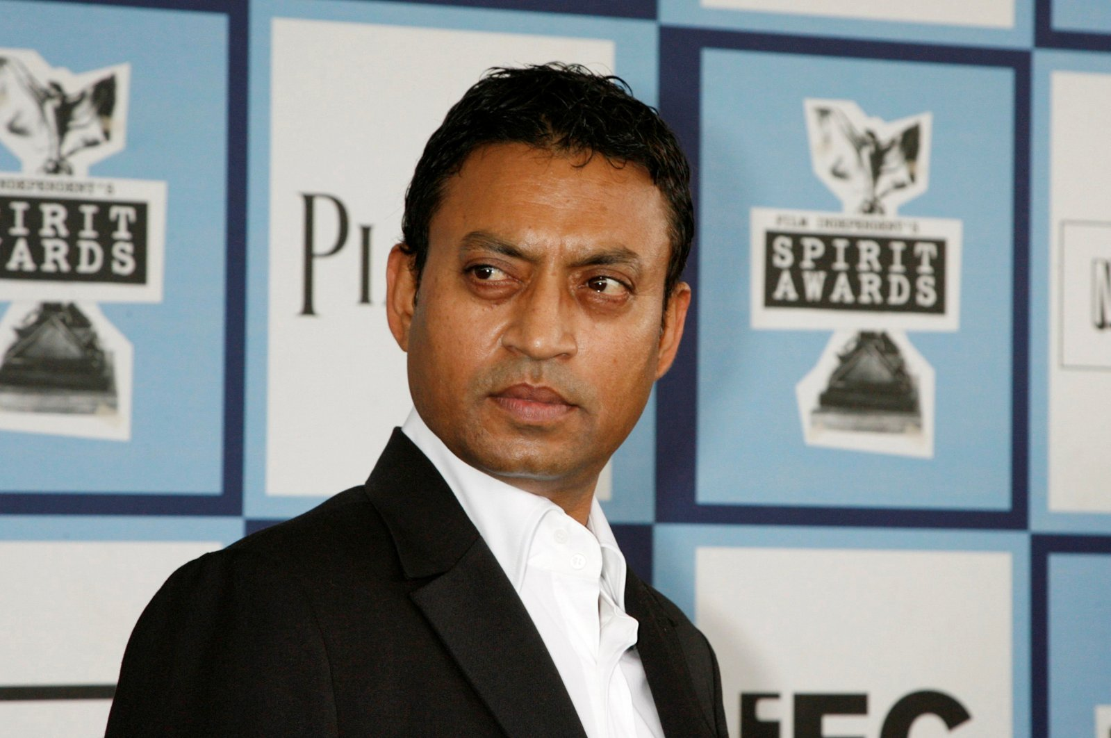 "Irrfan Khan, Best Supporting Male nominee for ""The Namesake,"" arrives at the 2008 Film Independent's Spirit Awards in Santa Monica, California, U.S., Feb. 23, 2008. (Reuters Photo)"
