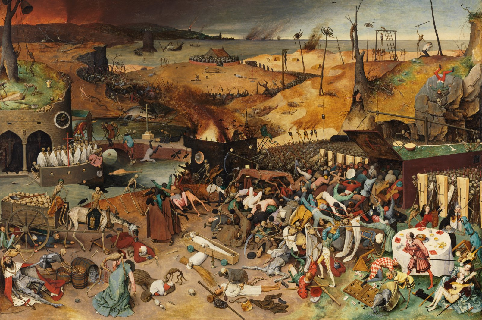 The Triumph of Death by Pieter Bruegel the Elder, circa 1562, oil on panel. Museo del Prado. (via WIKIMEDIA COMMONS)