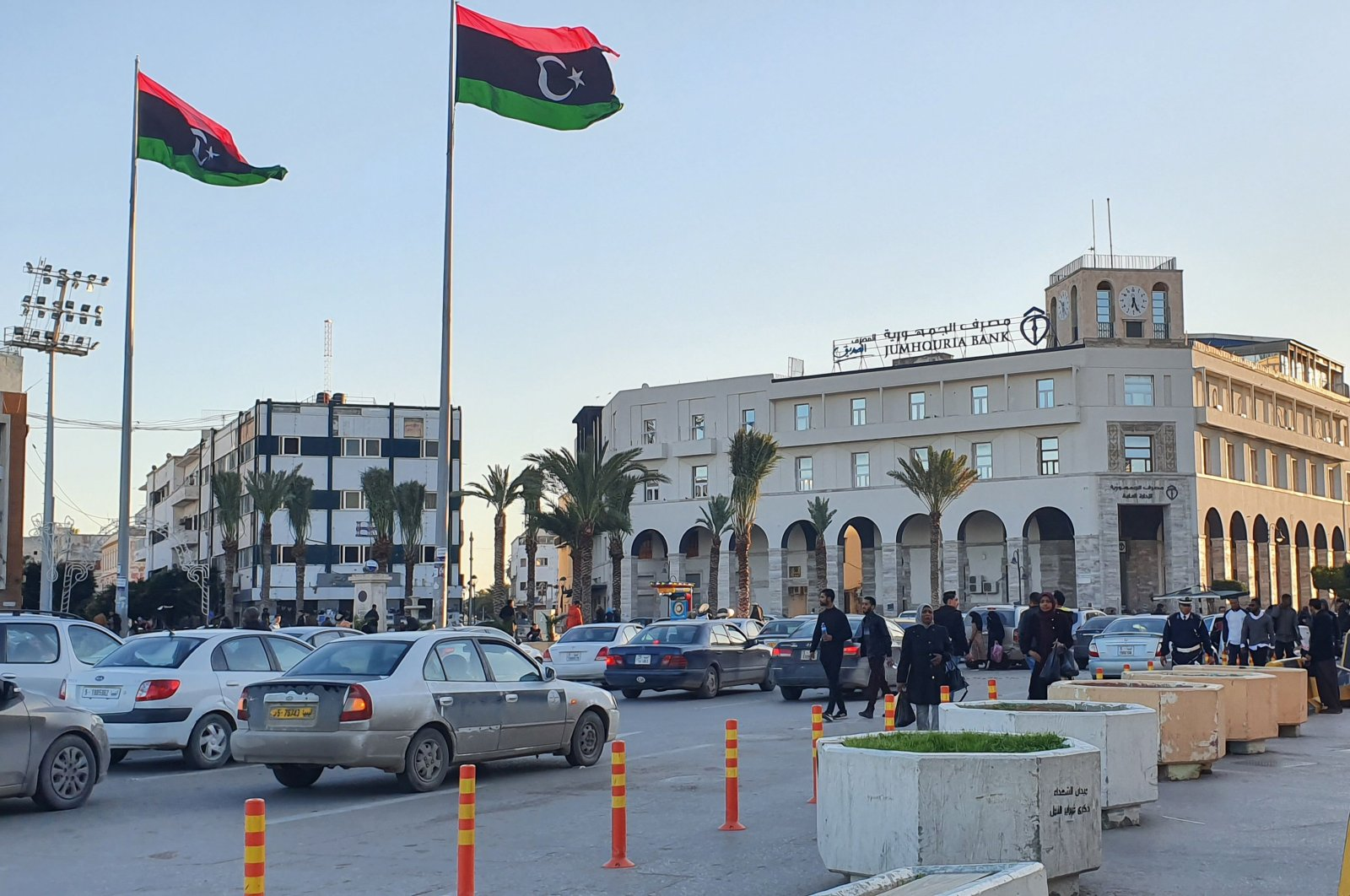 Martyr's square in the Libyan capital Tripoli, Jan. 20, 2020.  (AFP Photo)