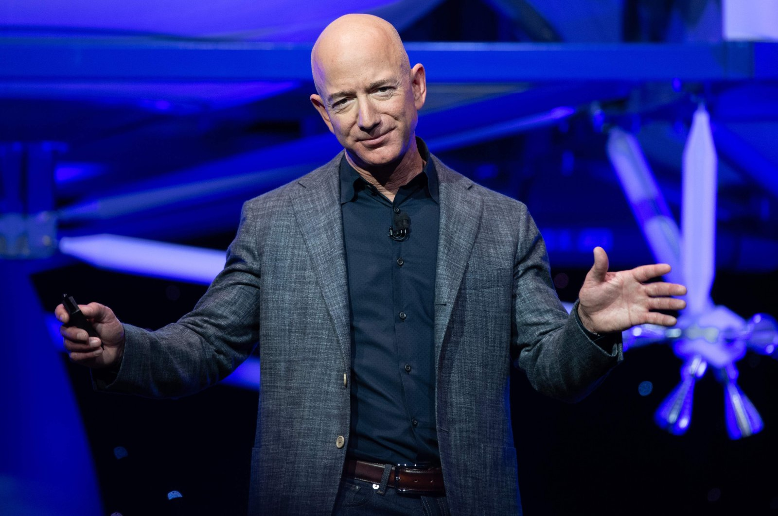 Jeff Bezos speaks at an event in Washington D.C., U.S., Thursday, May 9, 2019. (AFP Photo)
