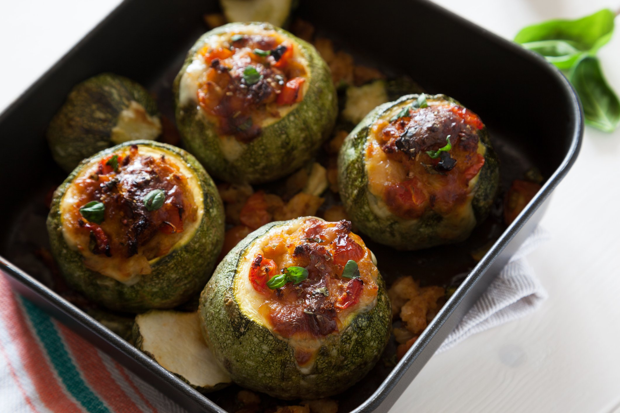 Some stuffed zucchinis are a great alternative to your usual bell peppers. (iStock Photo)