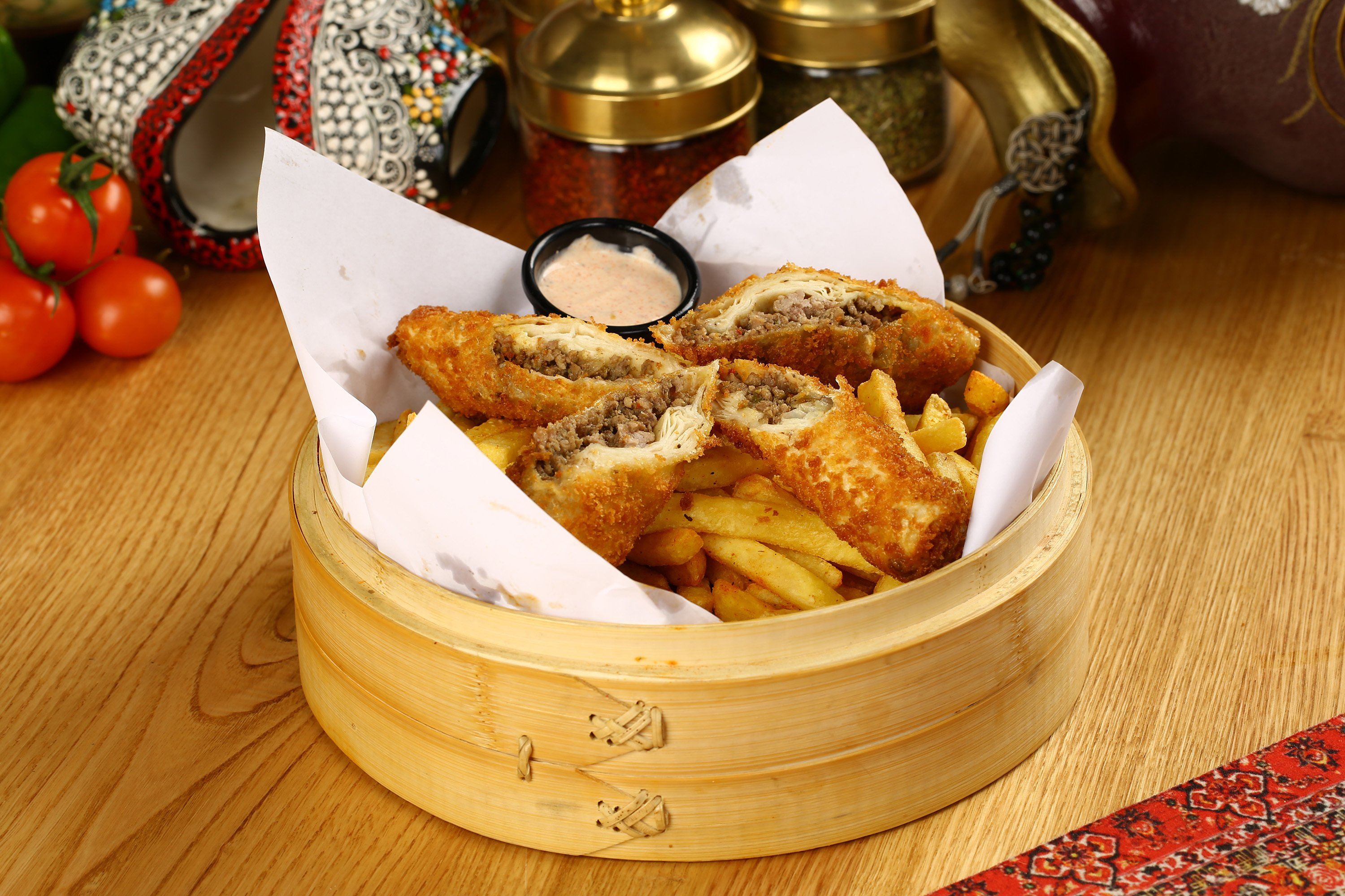 You could even just fry a few paçanga börek with some fries for a fast snack. (Shutterstock Photo)