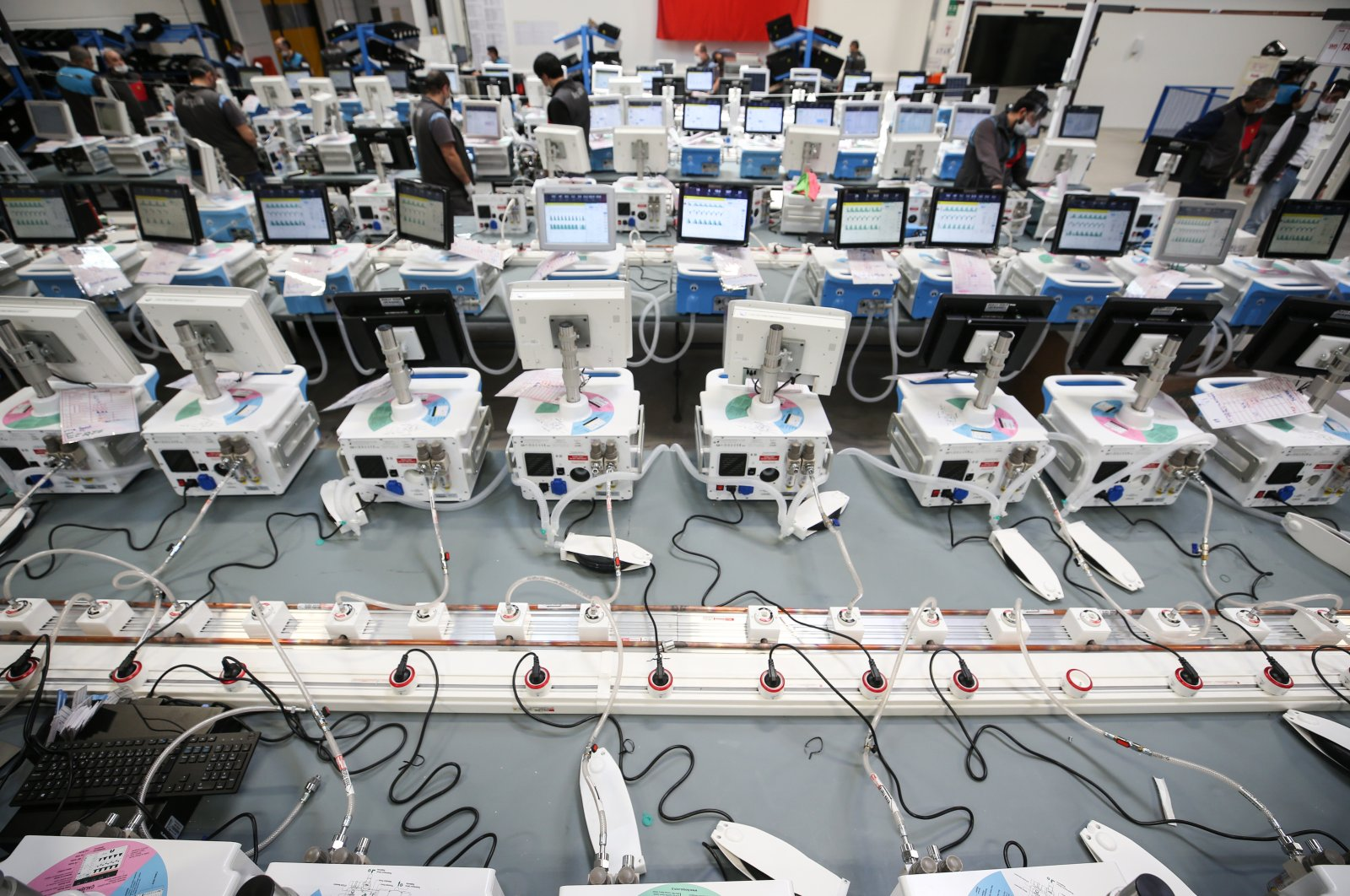 Domestically produced ventilators at an Arçelik factory located in Çerkezköy, Istanbul, April 28, 2020. (AA Photo)