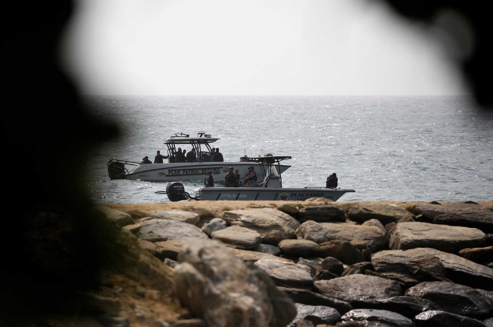 """Venezuelan security forces boats are seen after Venezuela's government announced a failed """"mercenary"""" incursion, in Macuto, Venezuela, May 3, 2020. (Reuters Photo)"""