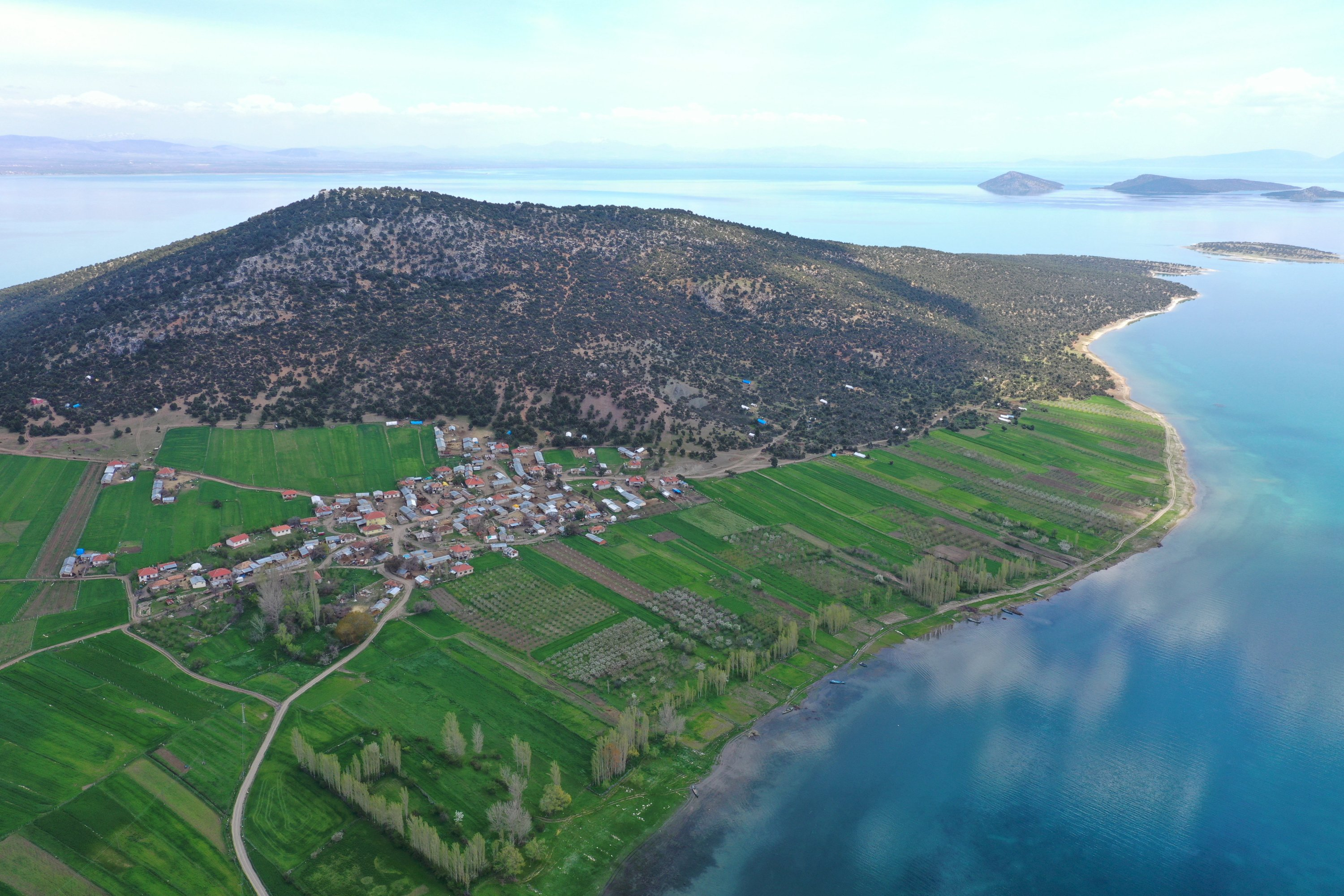 Mada island is the only lake island with settlers in Turkey. (AA Photo)