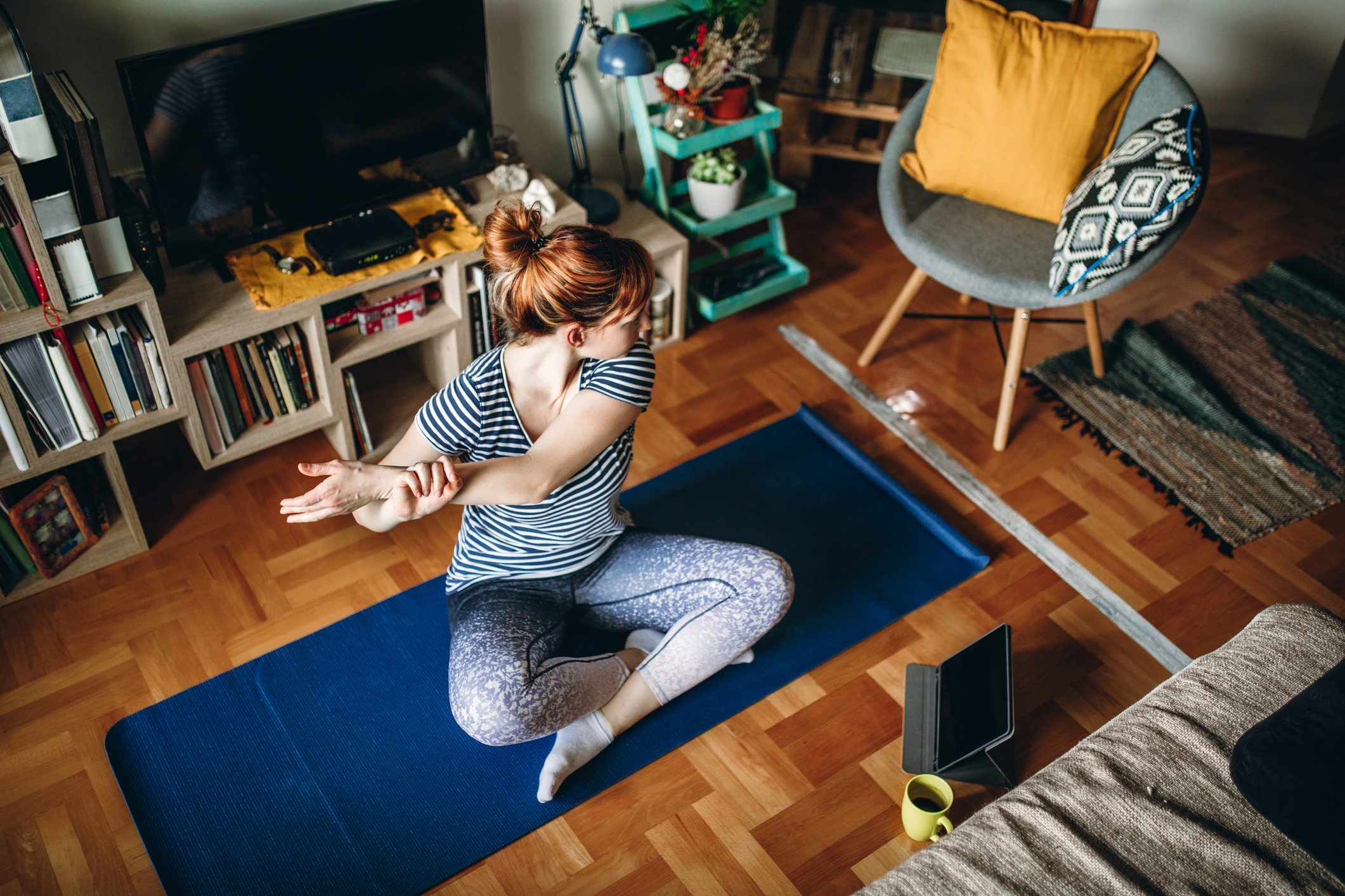 Practicing mindfulness and yoga, and stretching your stiff body will do you some good. (iStock Photo)