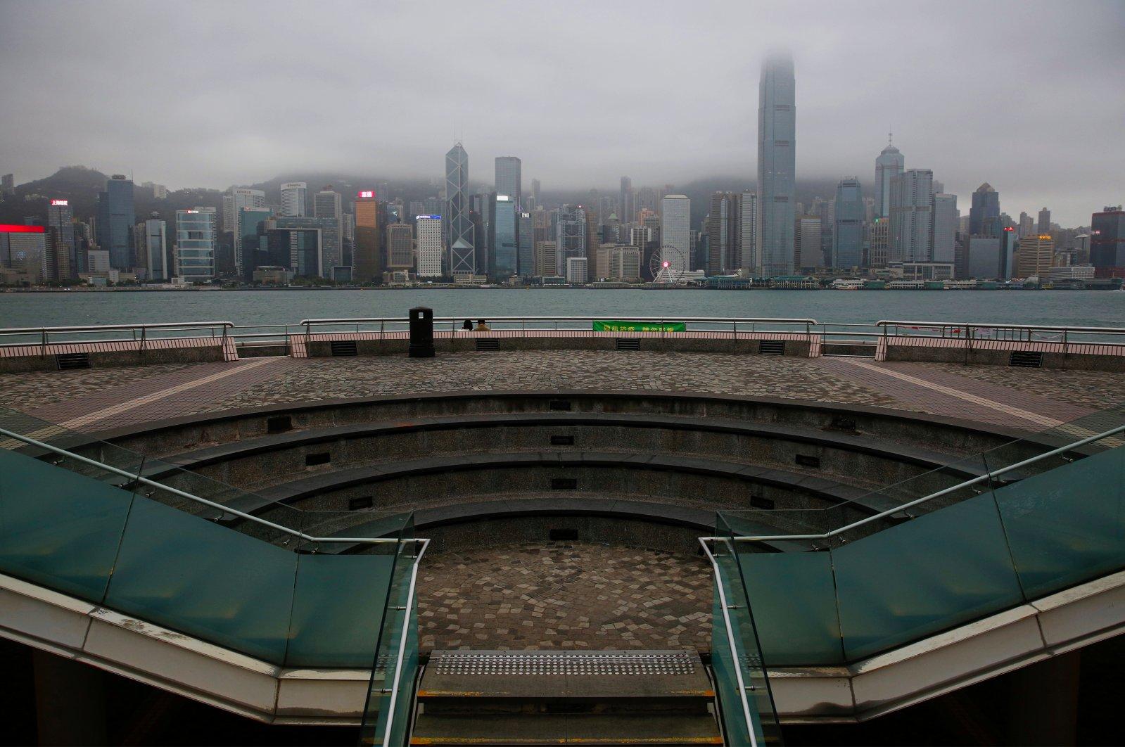 A general view of a tourist attraction at Tsim Sha Tsui, following the novel coronavirus outbreak, in Hong Kong, China, April 2, 2020. (Reuters Photo)