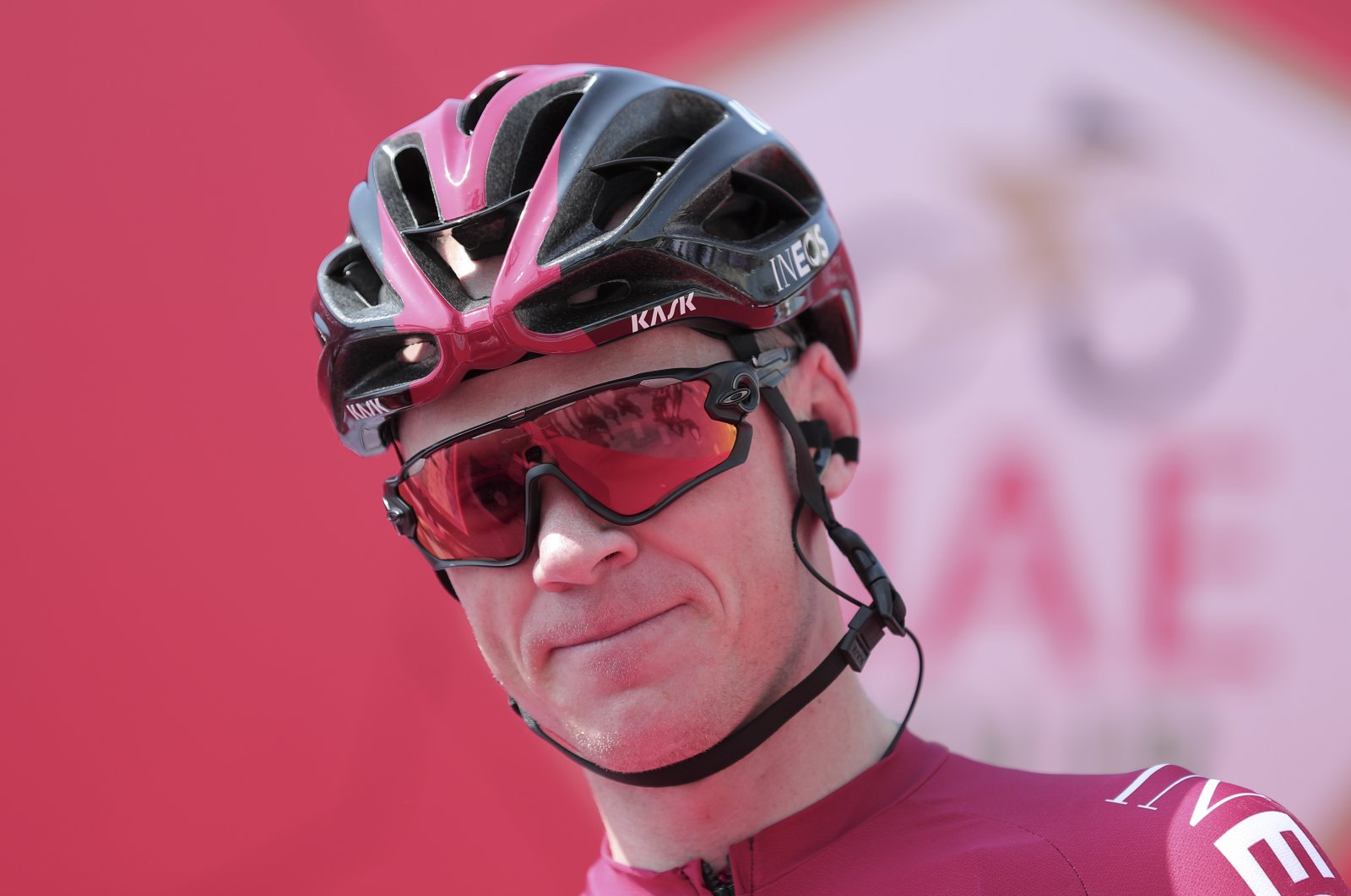Chris Froome during a cycling tour in Dubai, United Arab Emirates, Feb, 23, 2020. (AP Photo)