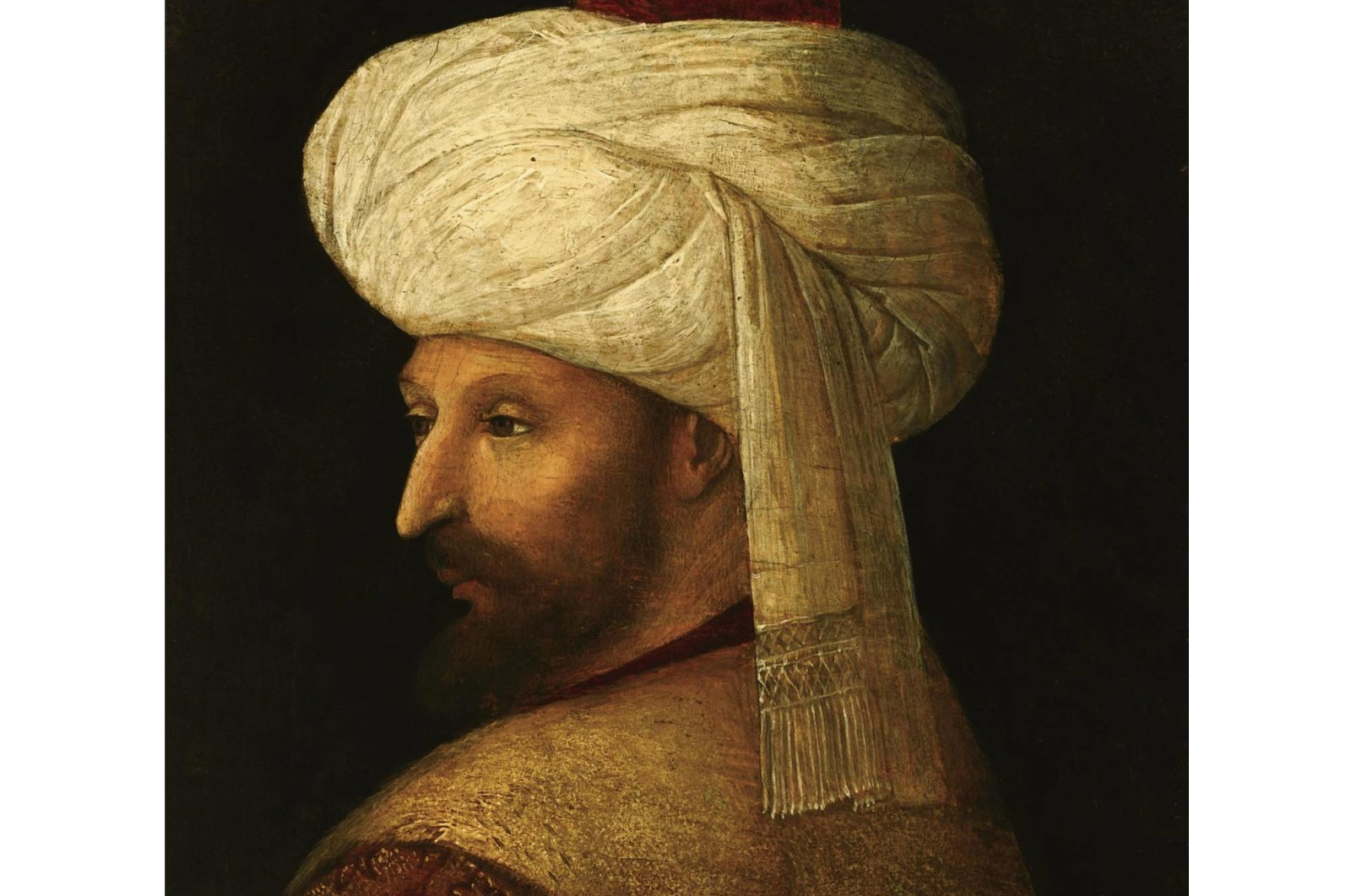 A portrait of Mehmed the Conqueror by Italian painter Gentile Bellini.