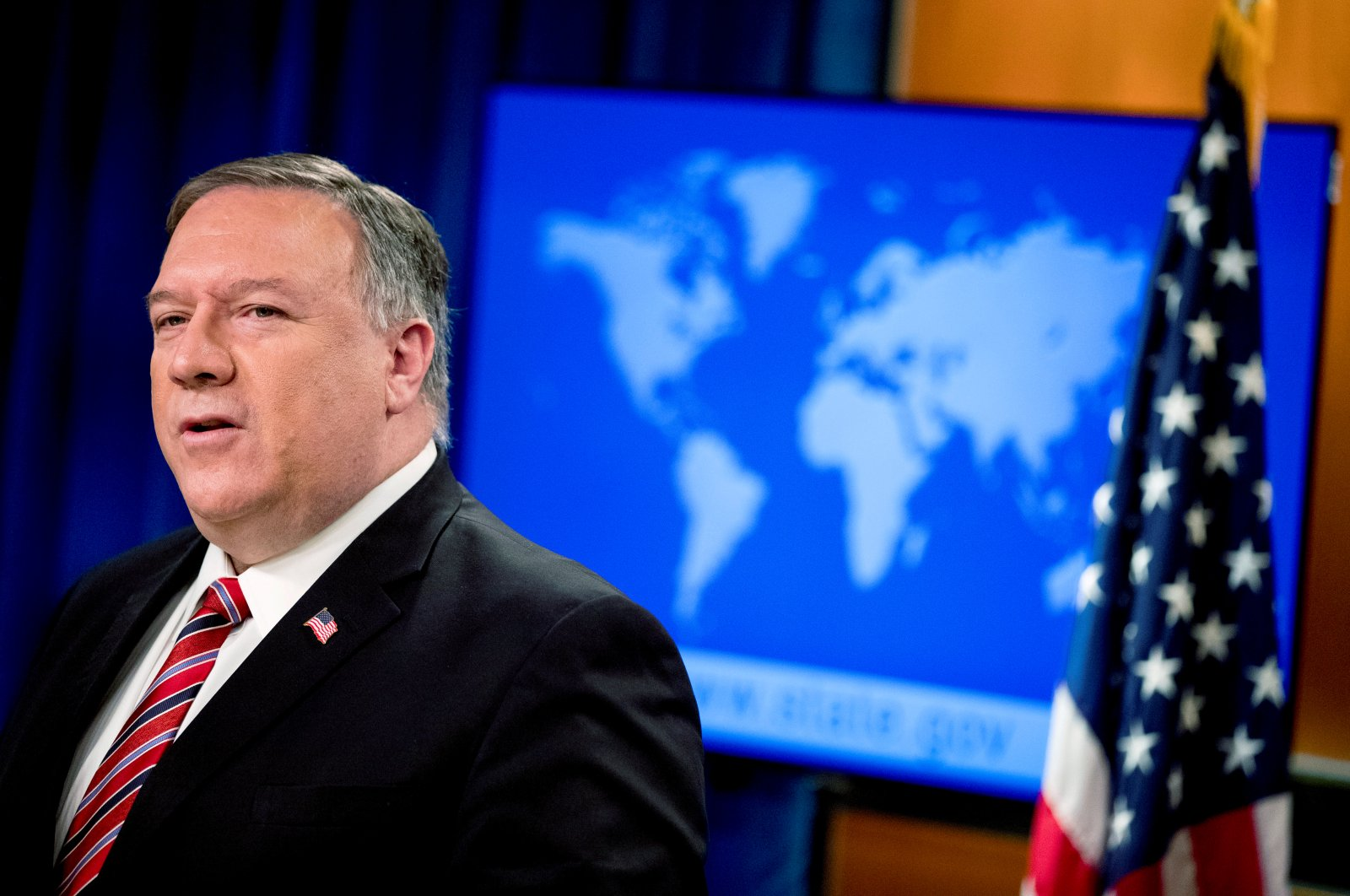 U.S. Secretary of State Mike Pompeo speaks at a news conference at the State Department, in Washington, D.C., U.S., April 29, 2020. (Reuters Photo)