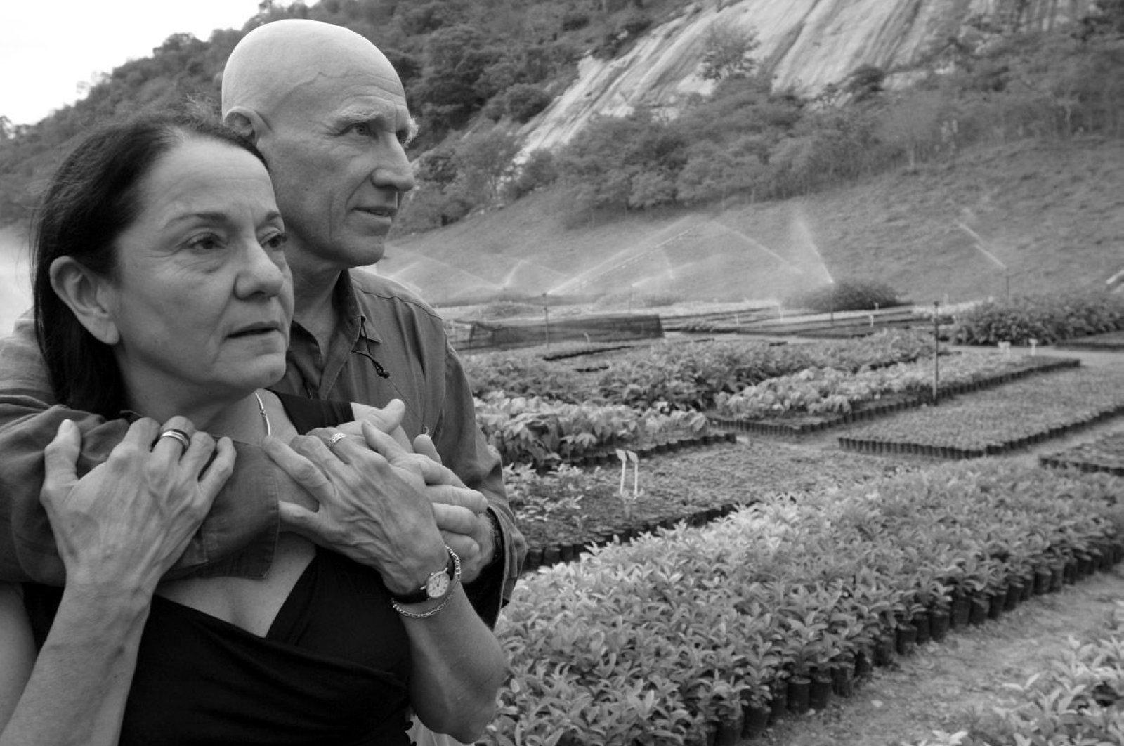 Sebastiao Salgado and his wife Leila at Instituto Terra. (Photo courtesy of StandbyForMindControl.com)