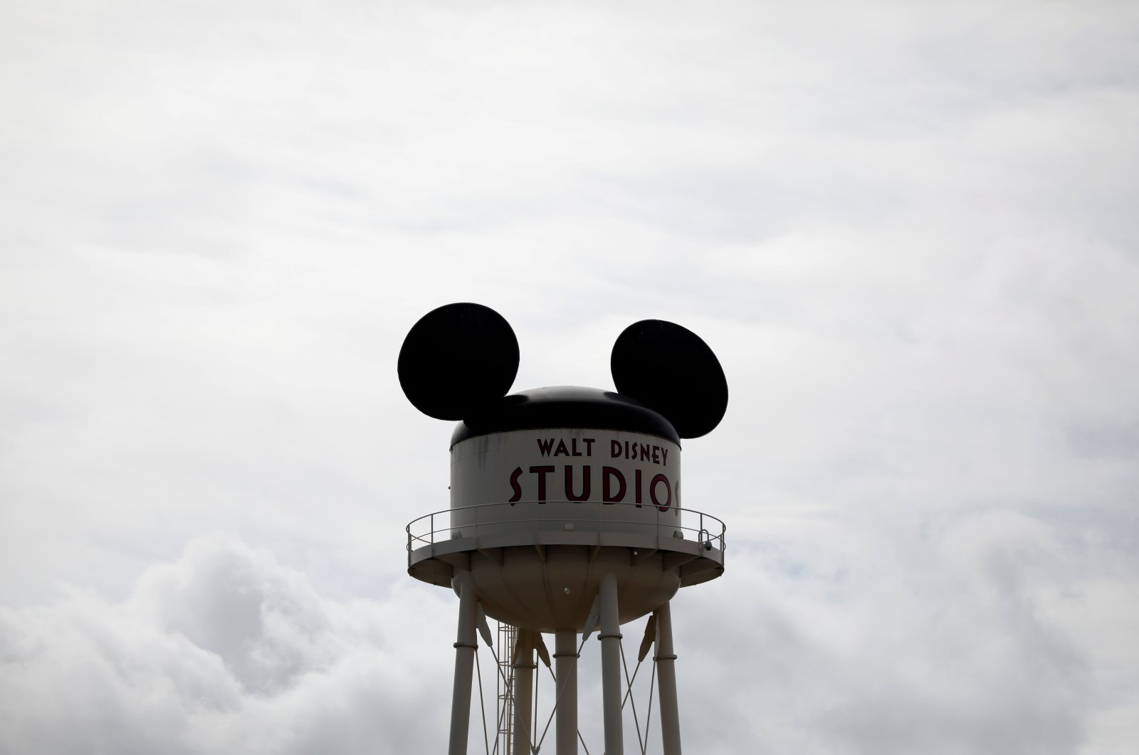 The sign at Walt Disney Studios Park is seen at the entrance of Disneyland Paris, in Marne-la-Vallee, near Paris, France, March 9, 2020.