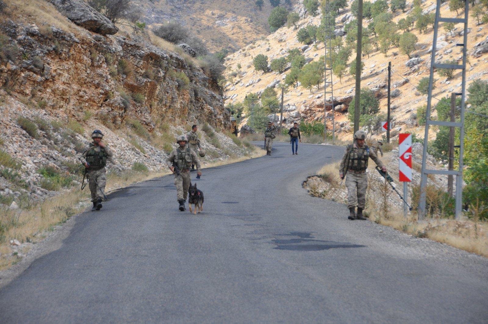 Gendarmerie forces participate in an anti-terror operation in southeastern Adıyaman province, Turkey, Oct. 22, 2019. (AA File Photo)
