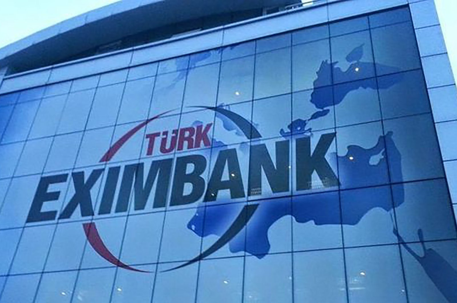 The logo of Türk Eximbank is seen on a building in this undated photo. (File Photo)
