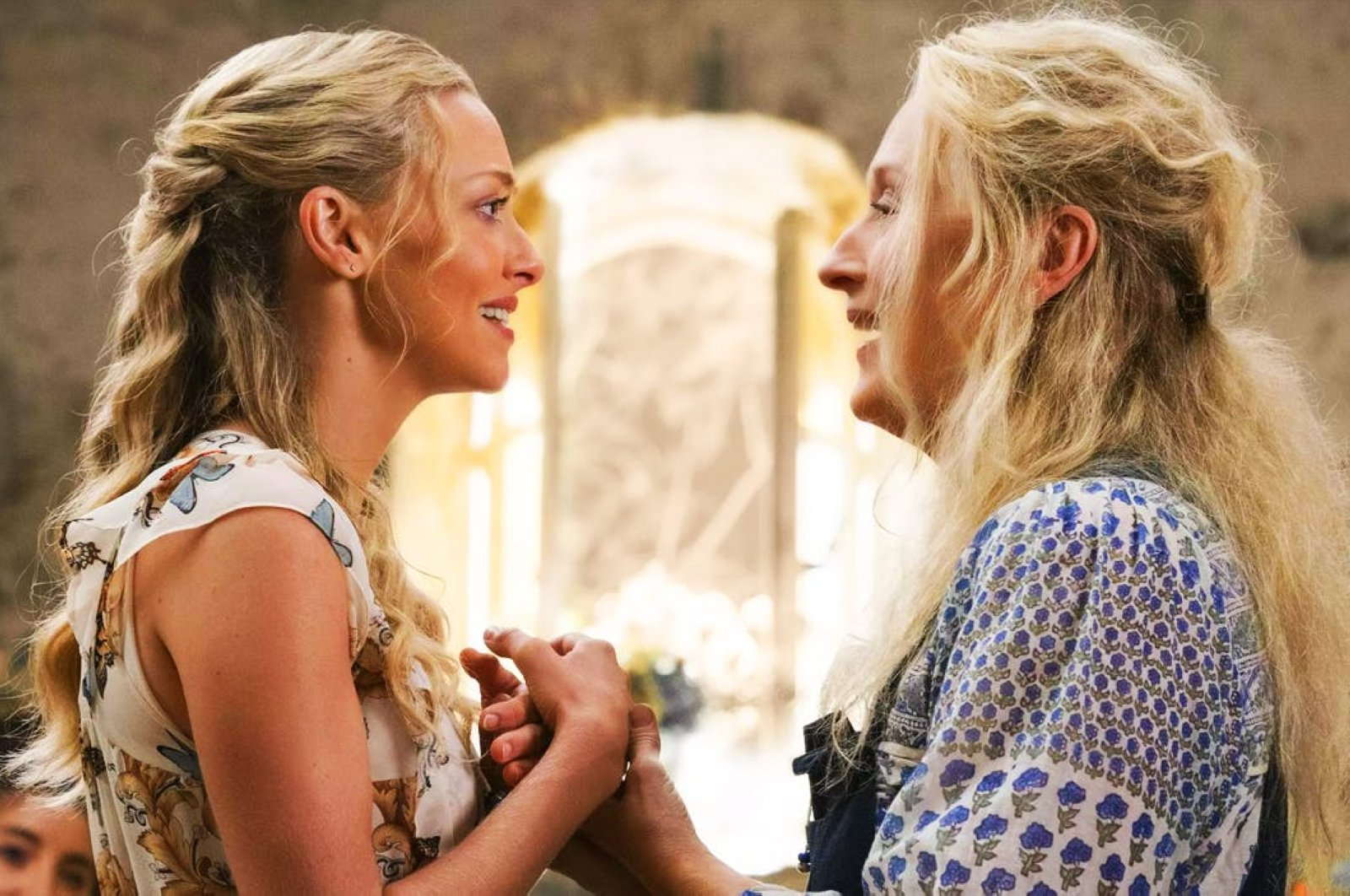 "Amanda Seyfried (L) and Meryl Streep in ""Mamma Mia!"""