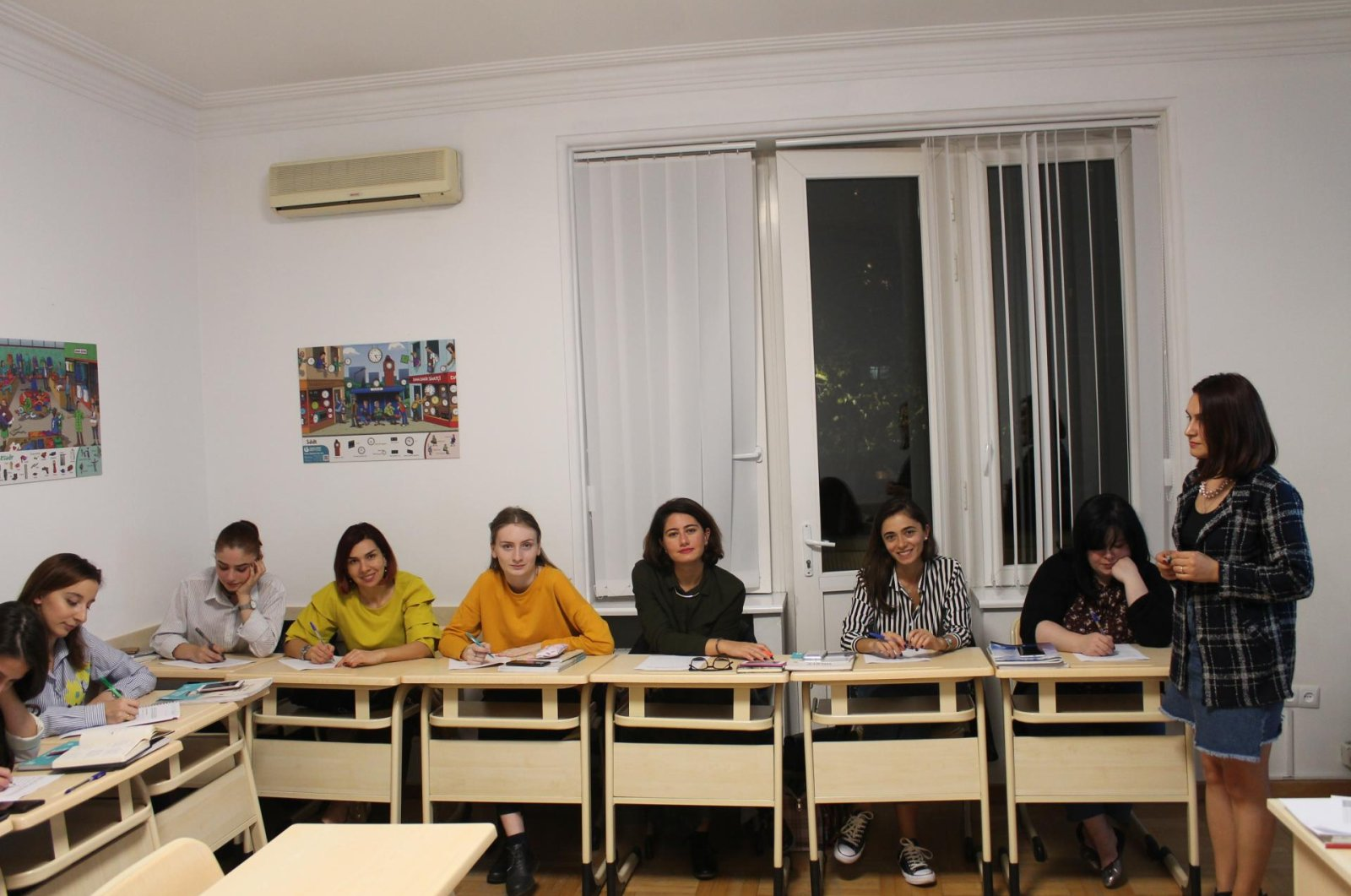 One of the classrooms of the Yunus Emre Institute, where students came together to learn Turkish before the coronavirus outbreak began, Tbilisi, Georgia. (Photo courtesy of Yunus Emre Institute)