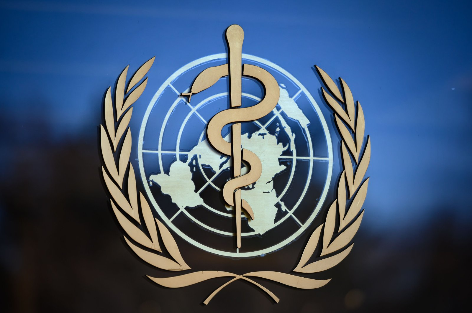 The World Health Organization (WHO) logo seen at its headquarters in Geneva, Switzerland, Feb. 24, 2020. (AFP Photo)