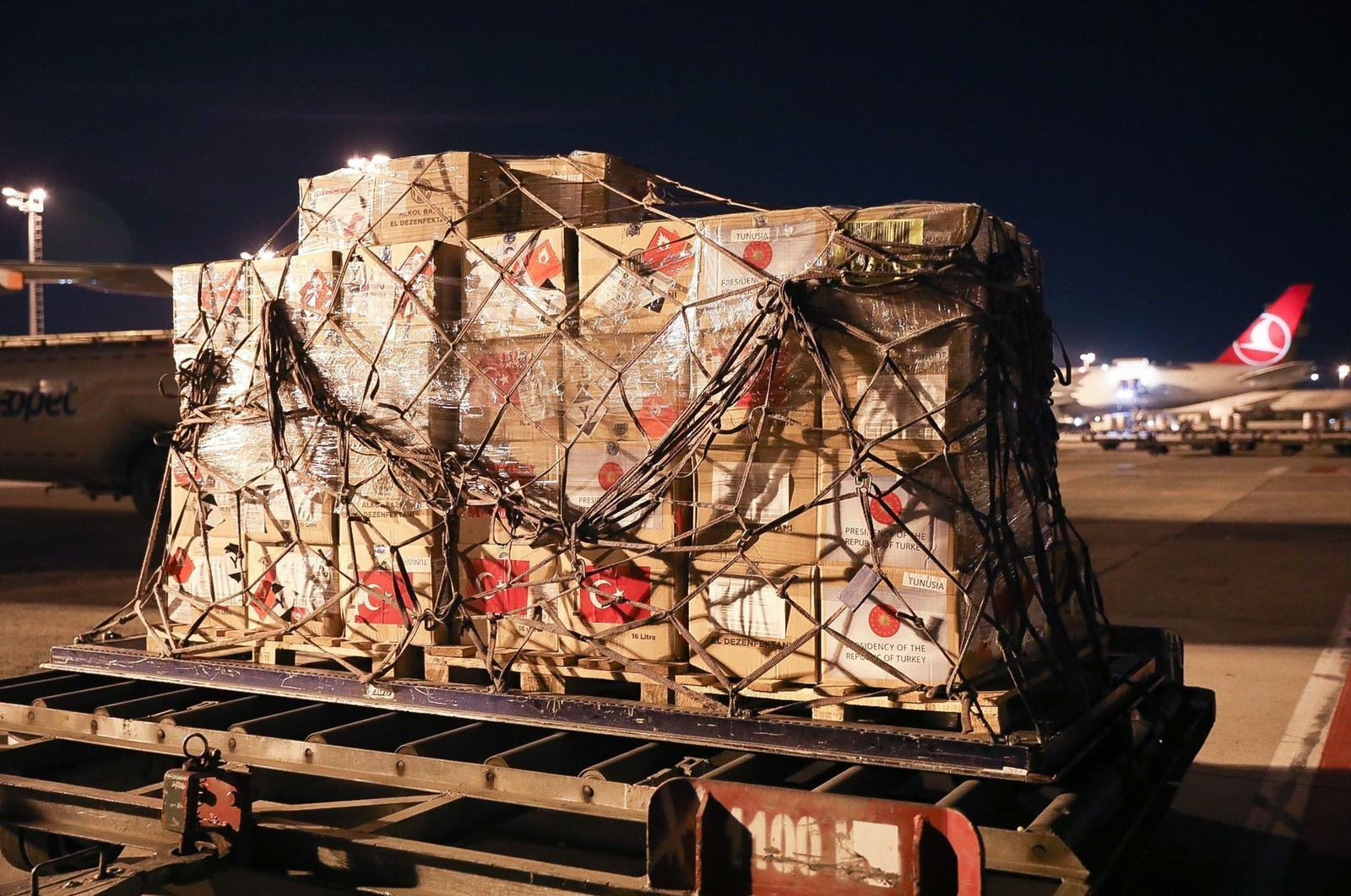 The latest Turkish delivery of medical aid was provided to Tunisia on Friday, May 8, 2020. (DHA)