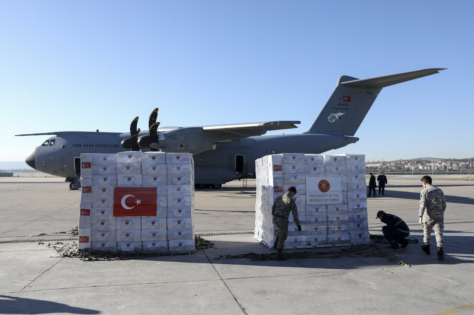 Turkey sent more than one cargo plane carrying medical aid equipment to the U.K. over the past month.