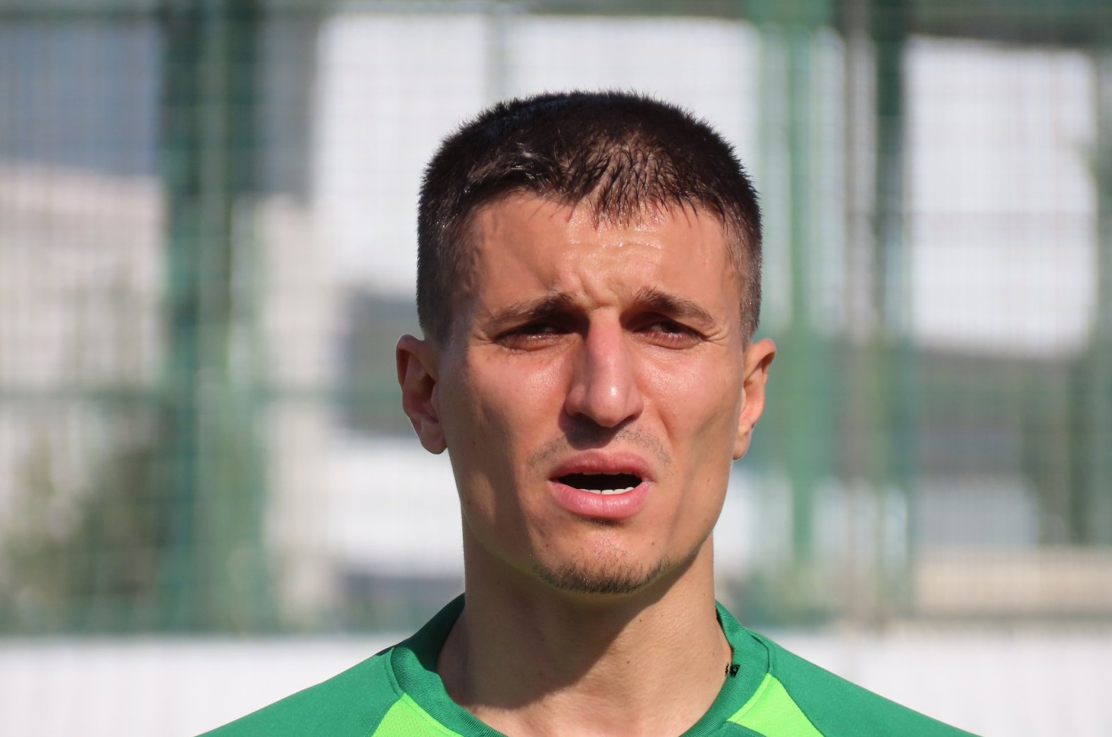 Once a Süper Lig player, Toktaş was signed with Regional Amateur League club Bursa Yıldırımspor. (DHA Photo)