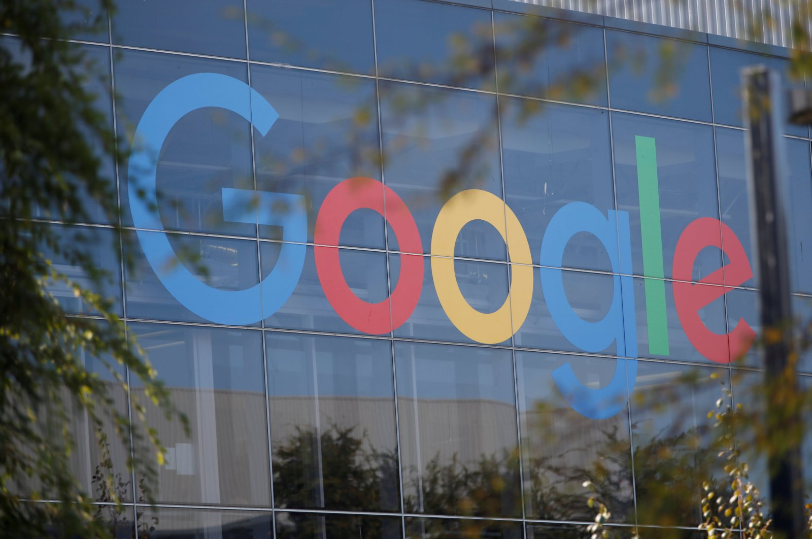 A Google logo is seen at the company's headquarters in Mountain View, United States, November 1, 2018. (REUTERS Photo)