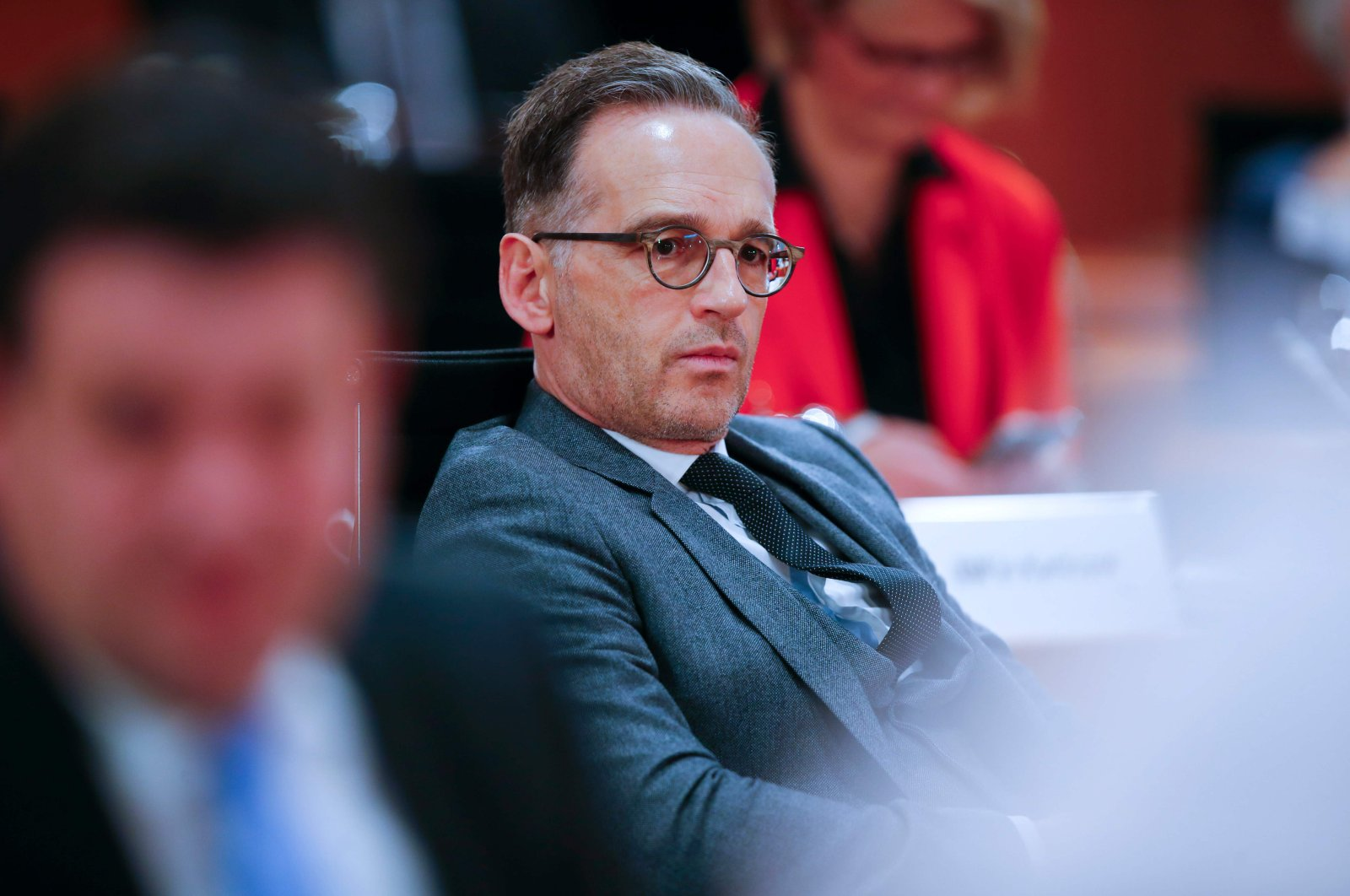 German Foreign Minister Heiko Maas attends a weekly cabinet meeting in Berlin, May 6, 2020. (AFP Photo)