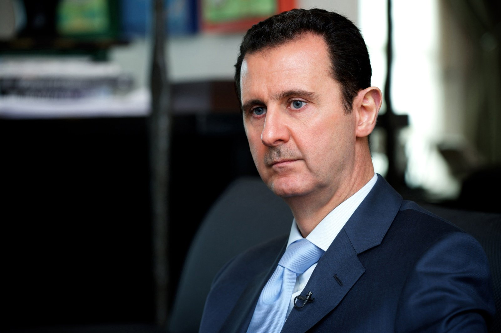 A handout picture released by the Syrian Arab News Agency (SANA) on January 15, 2015 shows Bashar al-Assad giving an interview to the Eterarna Novina Czech newspaper in Damascus. (AFP Photo)