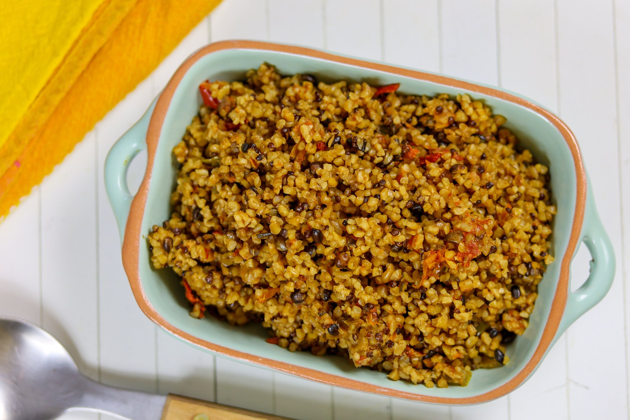 Don't be afraid to add some peppers or other veggies to your bulgur. (iStock Photo)