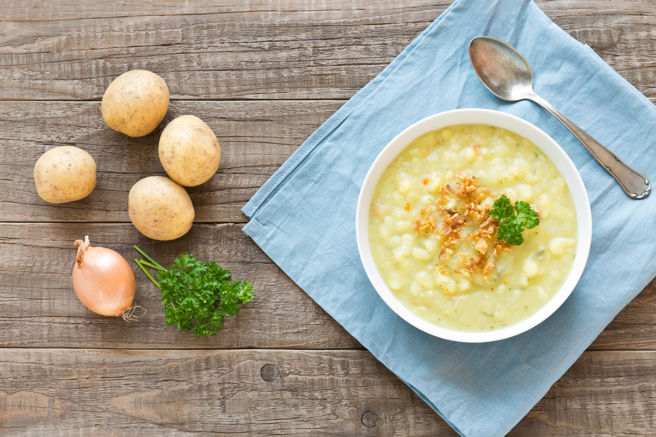 If you like your soup more chunky, you could always choose not to blend the mix. (iStock Photo)