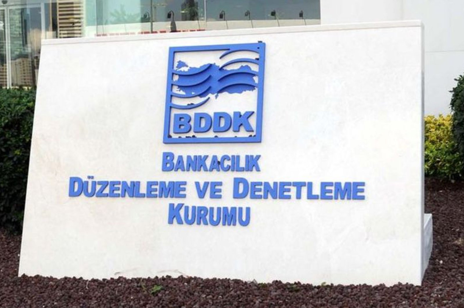 The logo of the Banking Regulation and Supervision Agency (BDDK) is seen at the provincial headquarters in Istanbul, Turkey, Jan. 23, 2017. (File Photo)