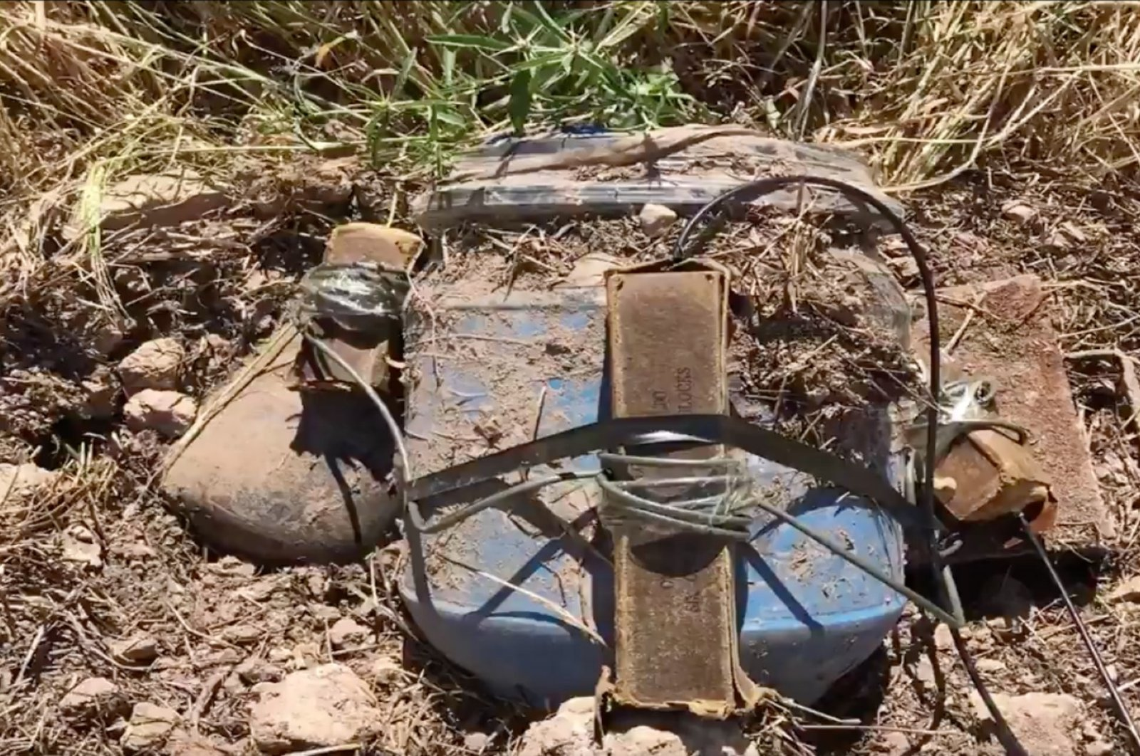 Explosives planted by the YPG/PKK terror group were seized in an area falling inside the region delineated as part of Turkey's Operation Peace Spring in northern Syria, May 11, 2020. (AA Photo)