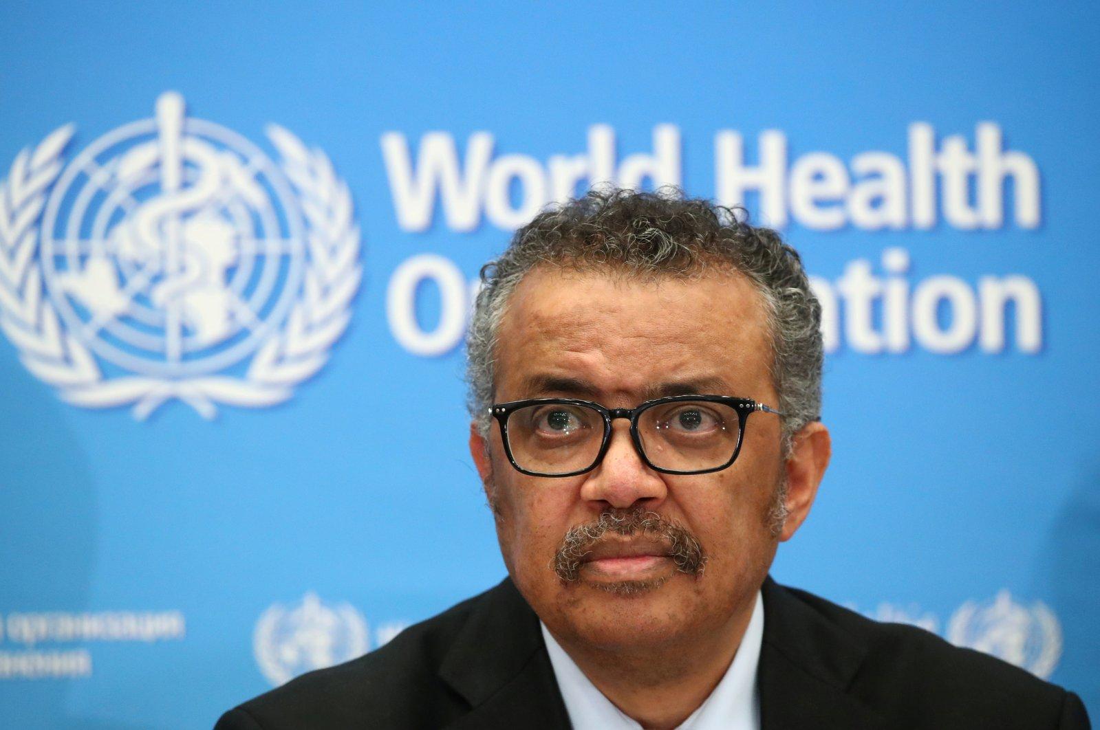 Director-General of the WHO Tedros Adhanom Ghebreyesus. (REUTERS PHOTO)
