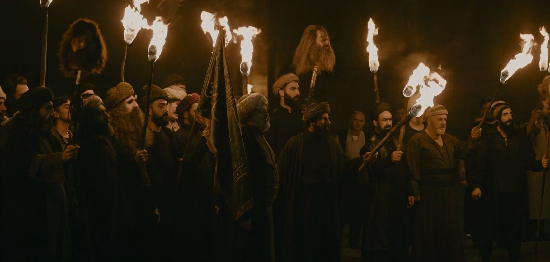 The dervish arson scene looks like a witch hunt scene of the Medieval Inquisition.