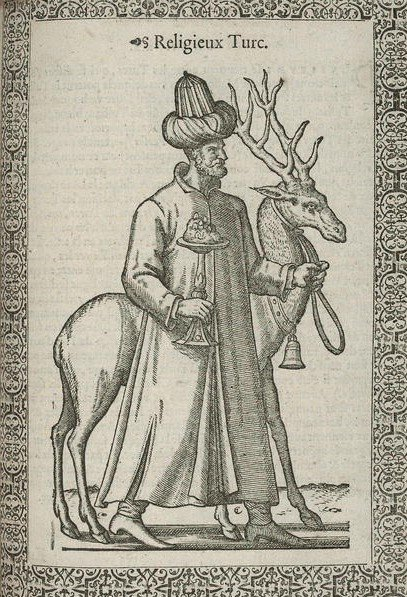 A picture of a dervish drawn by Nicolas De Nicolay. (Courtesy of Library of Congress)