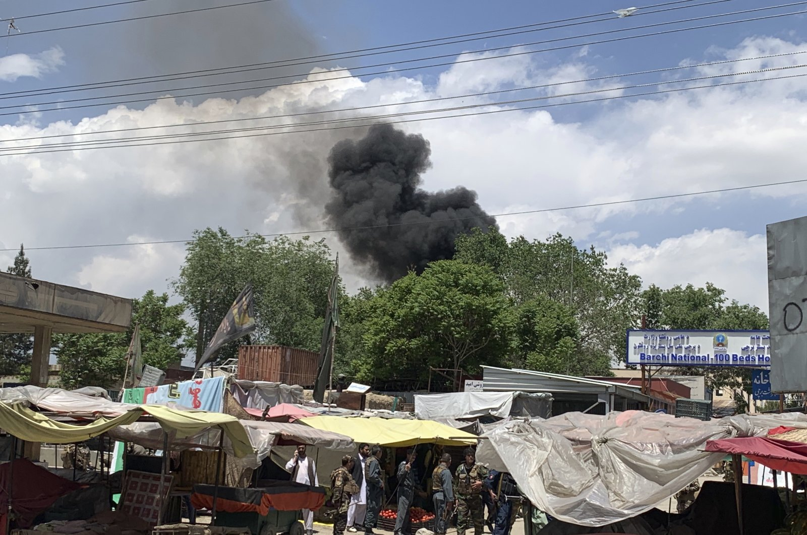 Smoke rises from a hospital after an attack in Kabul, Afghanistan, May 12, 2020. (AP Photo)